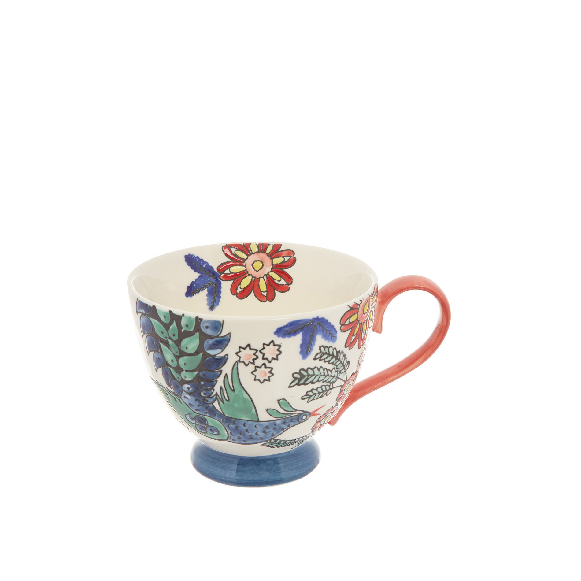Tazza da colazione stoneware dipinta a mano, Multicolor, large image number 0