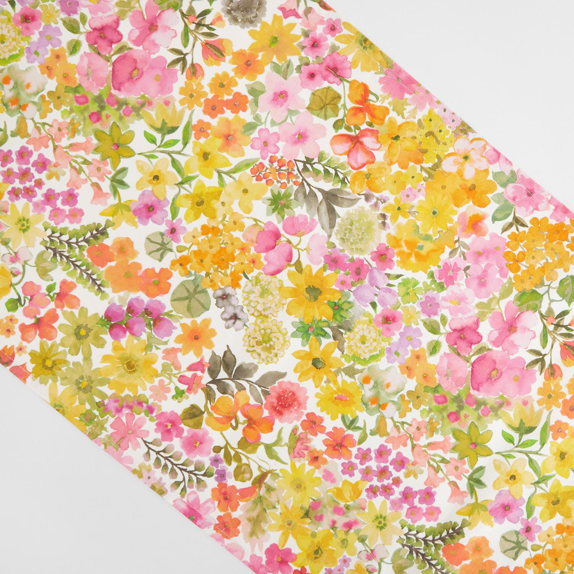 Runner puro cotone stampa fiorellini, Multicolor, large image number 1