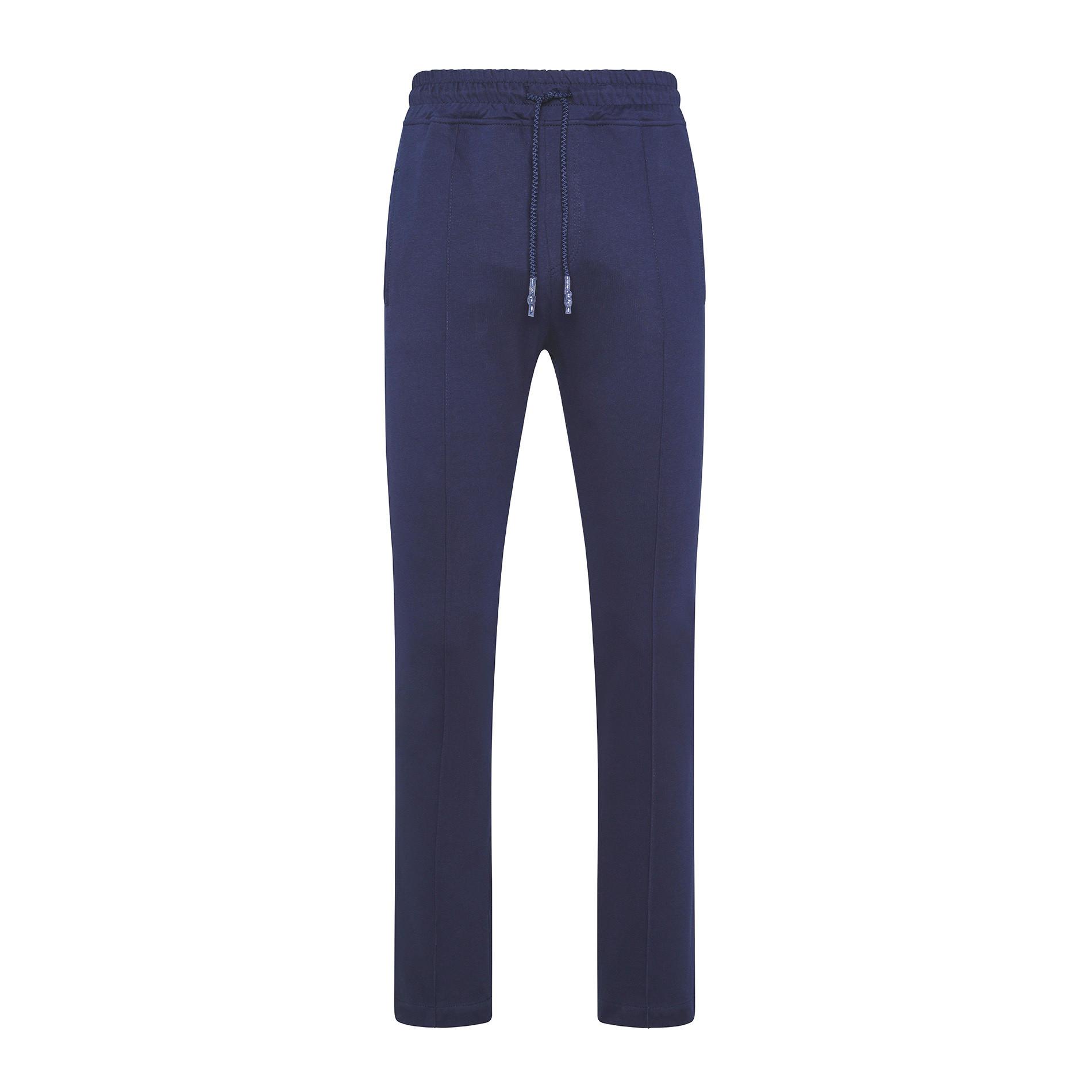 Pantalone felpa di cotone JCT, Blu scuro, large image number 0