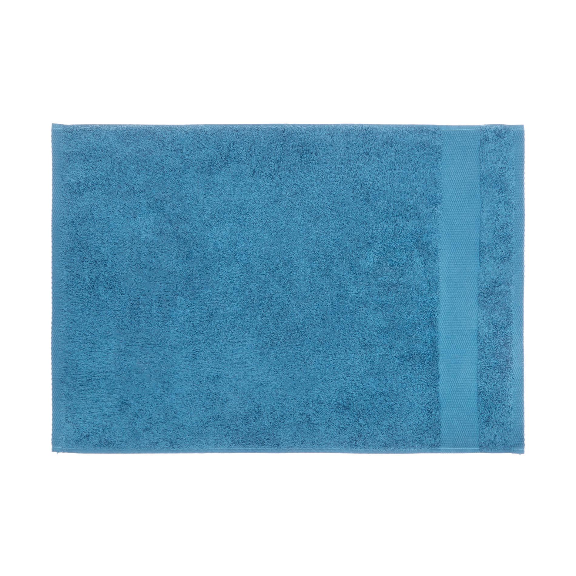 Asciugamano spugna di puro cotone Zefiro, Petrolio, large image number 2