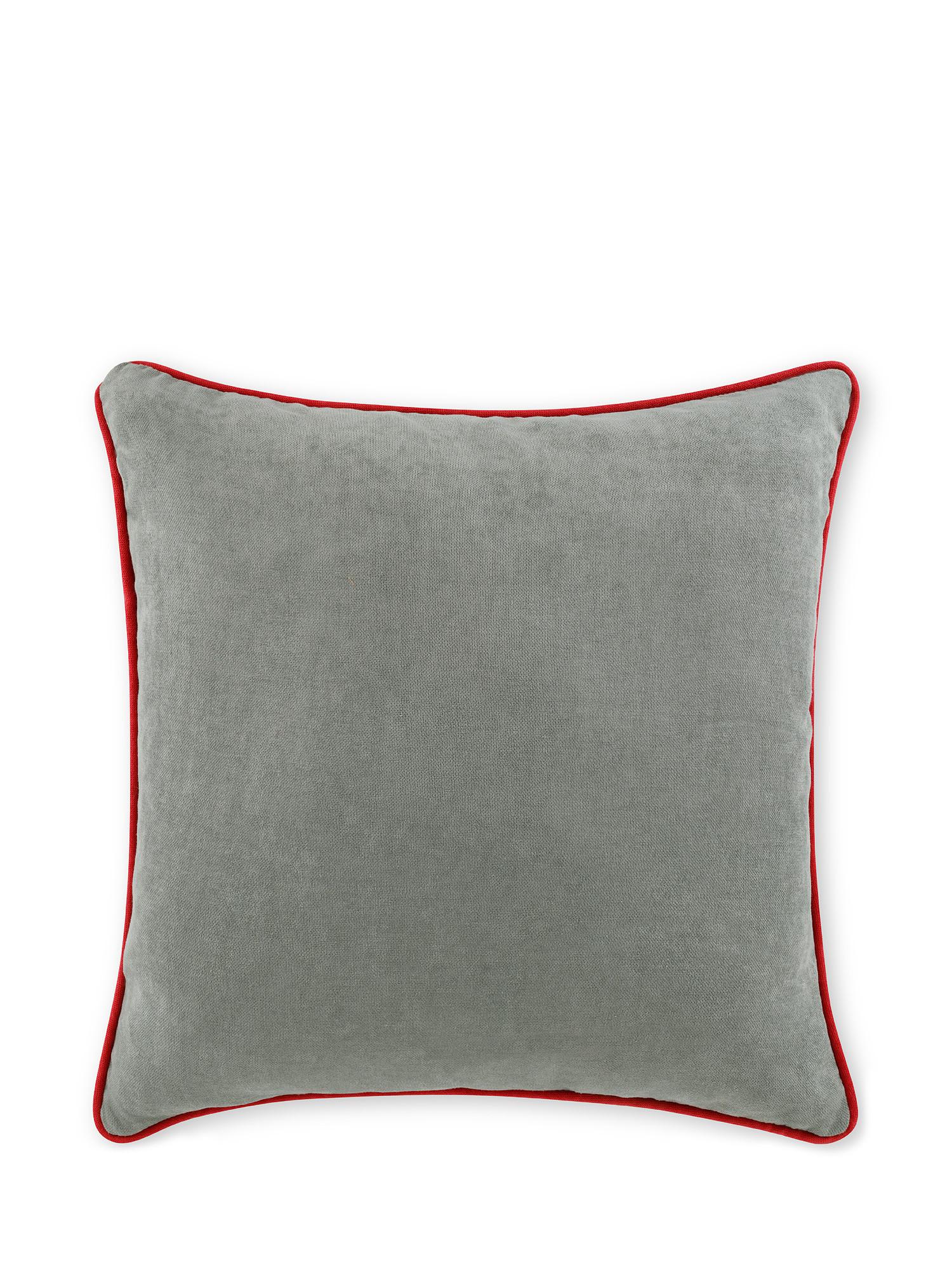 Cuscino tessuto effetto mélange 50x50cm, Grigio, large image number 1
