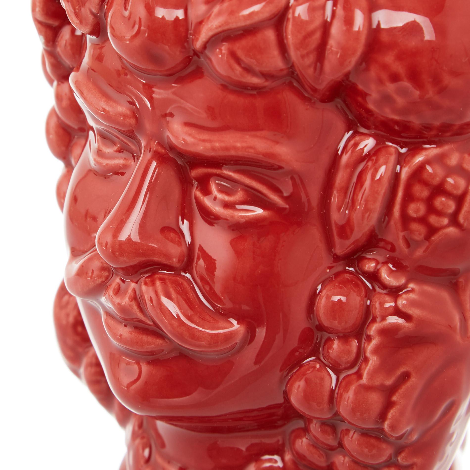 Testa di moro by Ceramiche Siciliane Ruggeri, Rosso, large image number 3