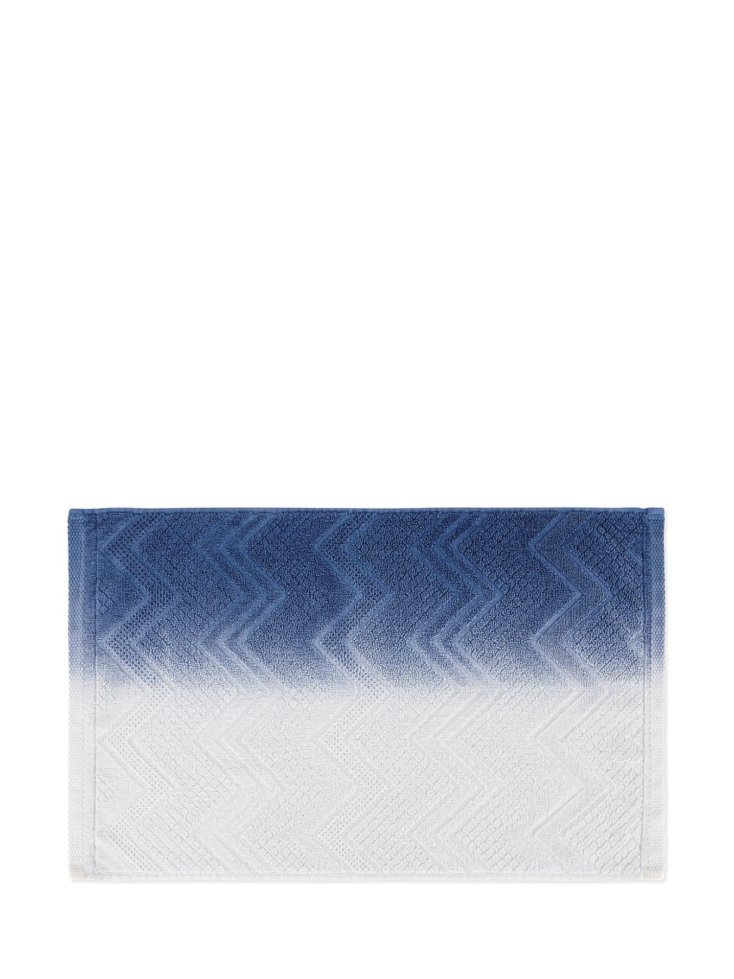 Asciugamano spugna di cotone dip dye, Blu, large image number 2