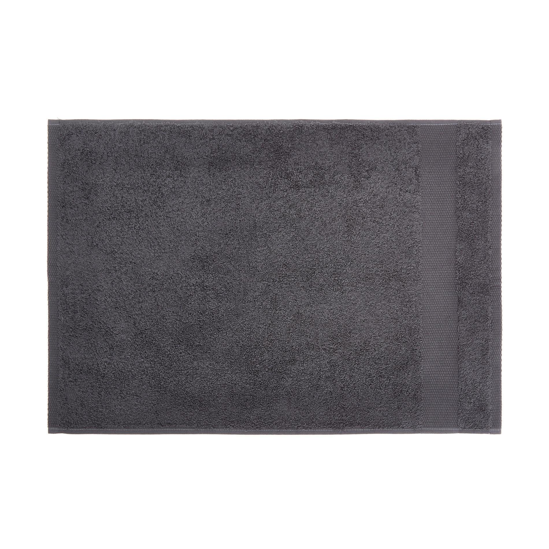 Asciugamano spugna di puro cotone Zefiro, Grigio scuro, large image number 2