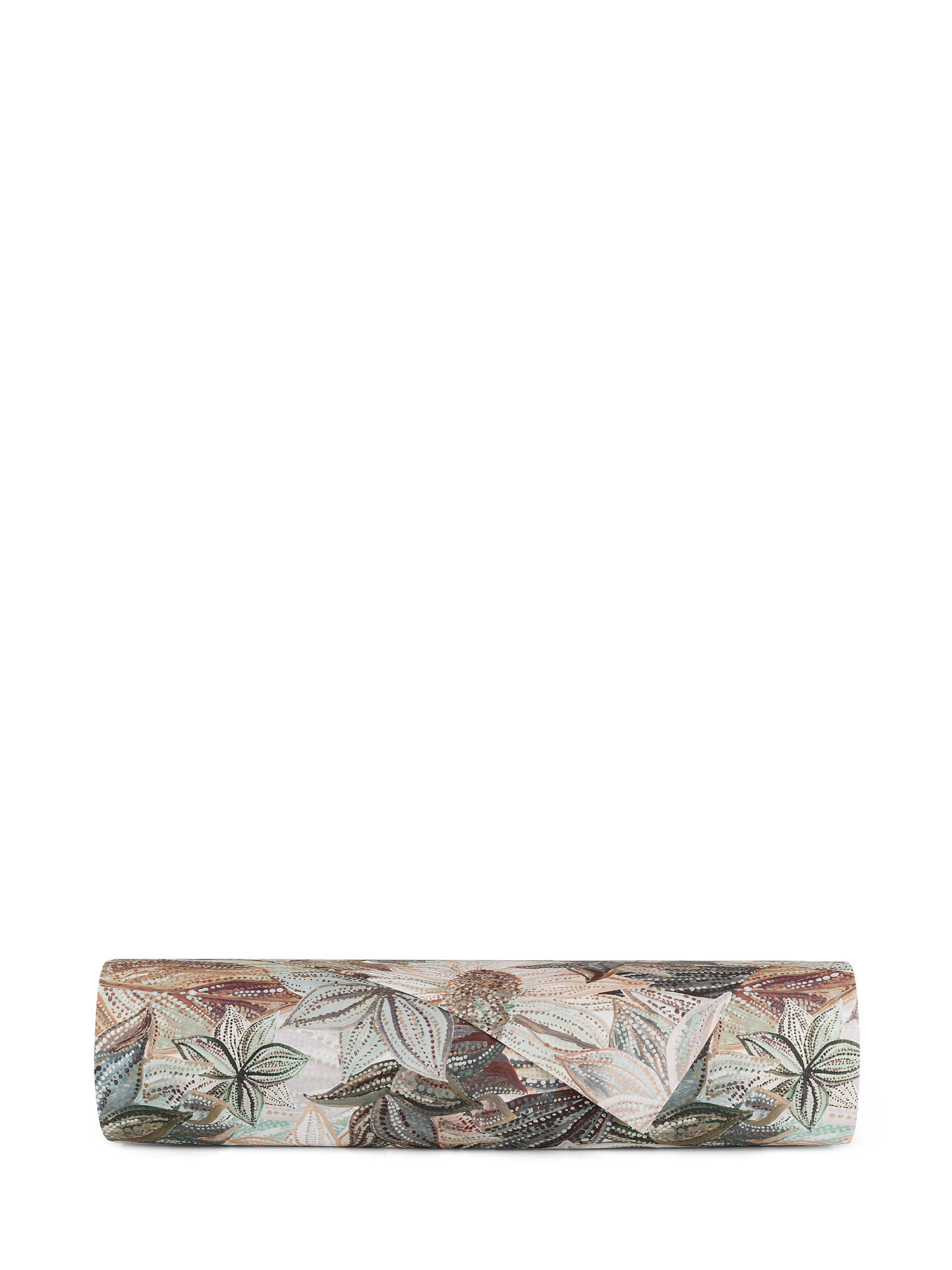 Lenzuolo liscio cotone percalle fantasia floreale, Verde, large image number 1
