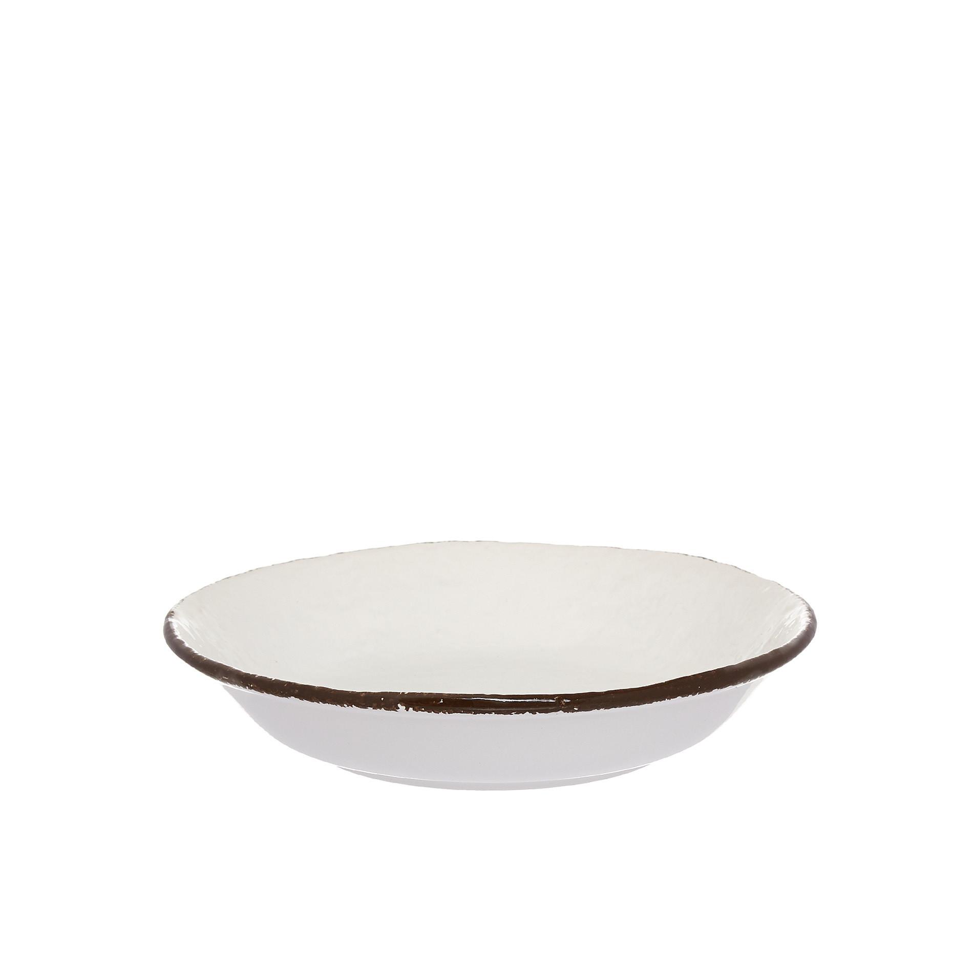 Piatto fondo ceramica artigianale Preta, Bianco, large image number 0