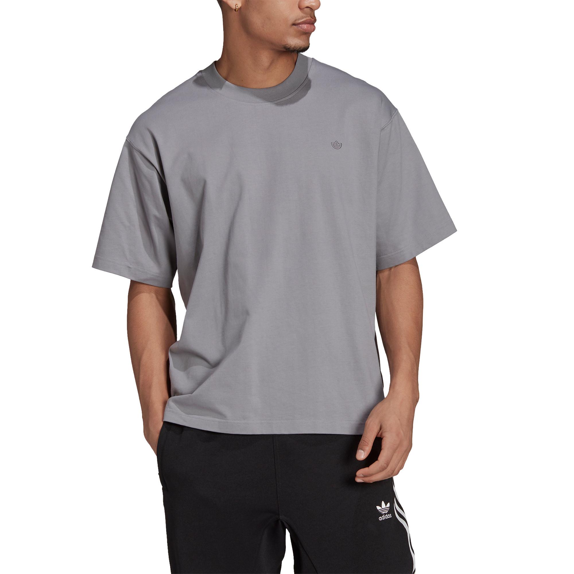 T-shirt uomo adicolor Trefoil, Grigio, large image number 3