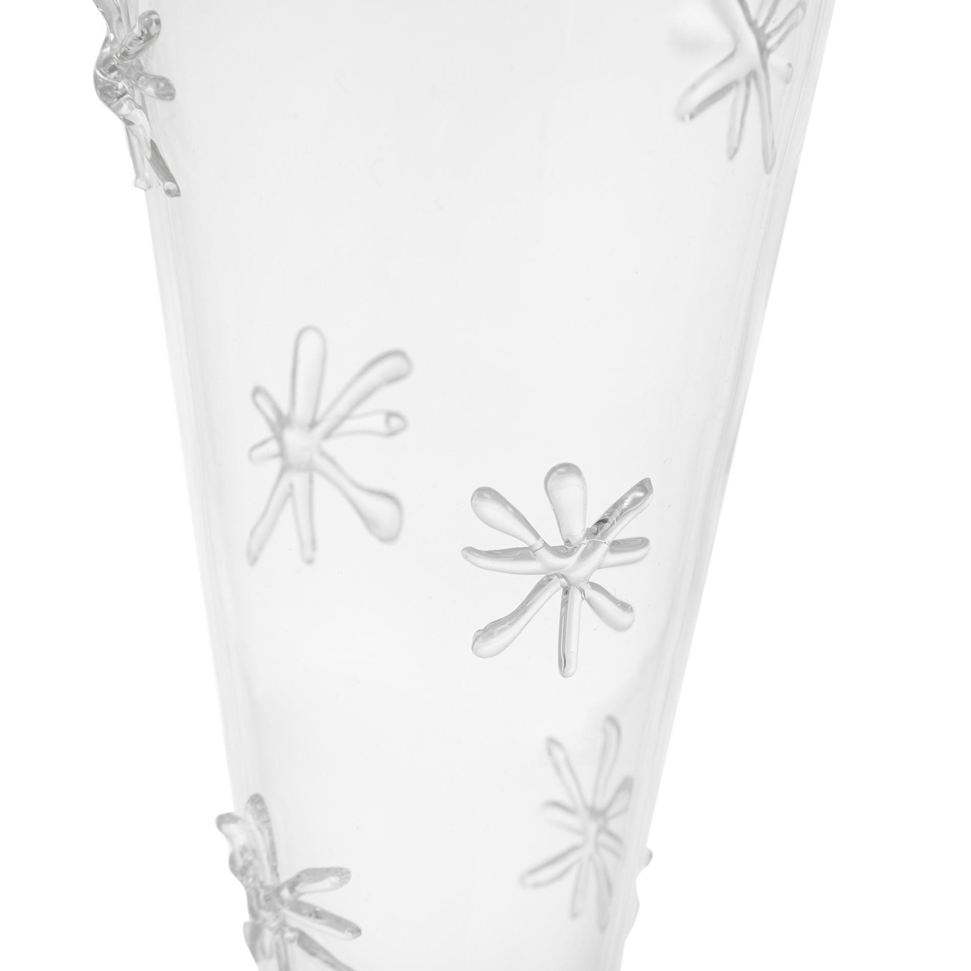 Set 6 flutes vetro borosilicato, Bianco, large image number 1