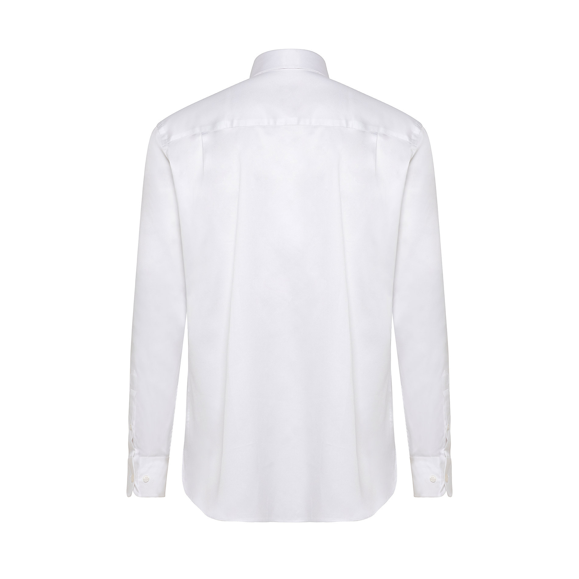 Camicia colletto francese in cotone, Bianco, large image number 1