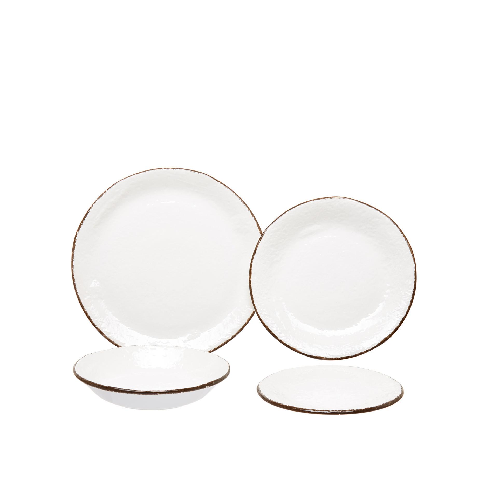 Piatto fondo ceramica artigianale Preta, Bianco, large image number 2