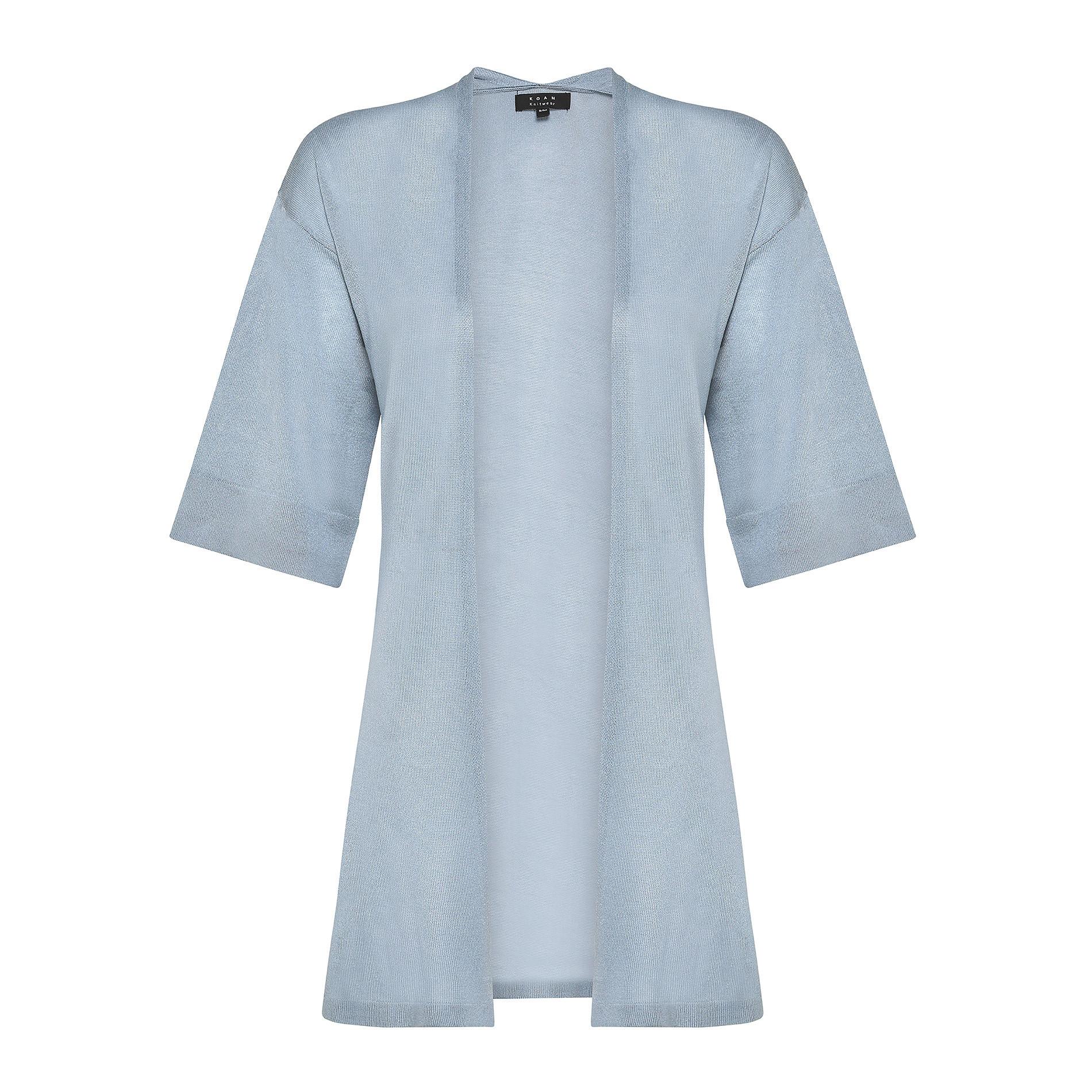 Cardigan over maglia leggera Koan, Azzurro, large image number 0