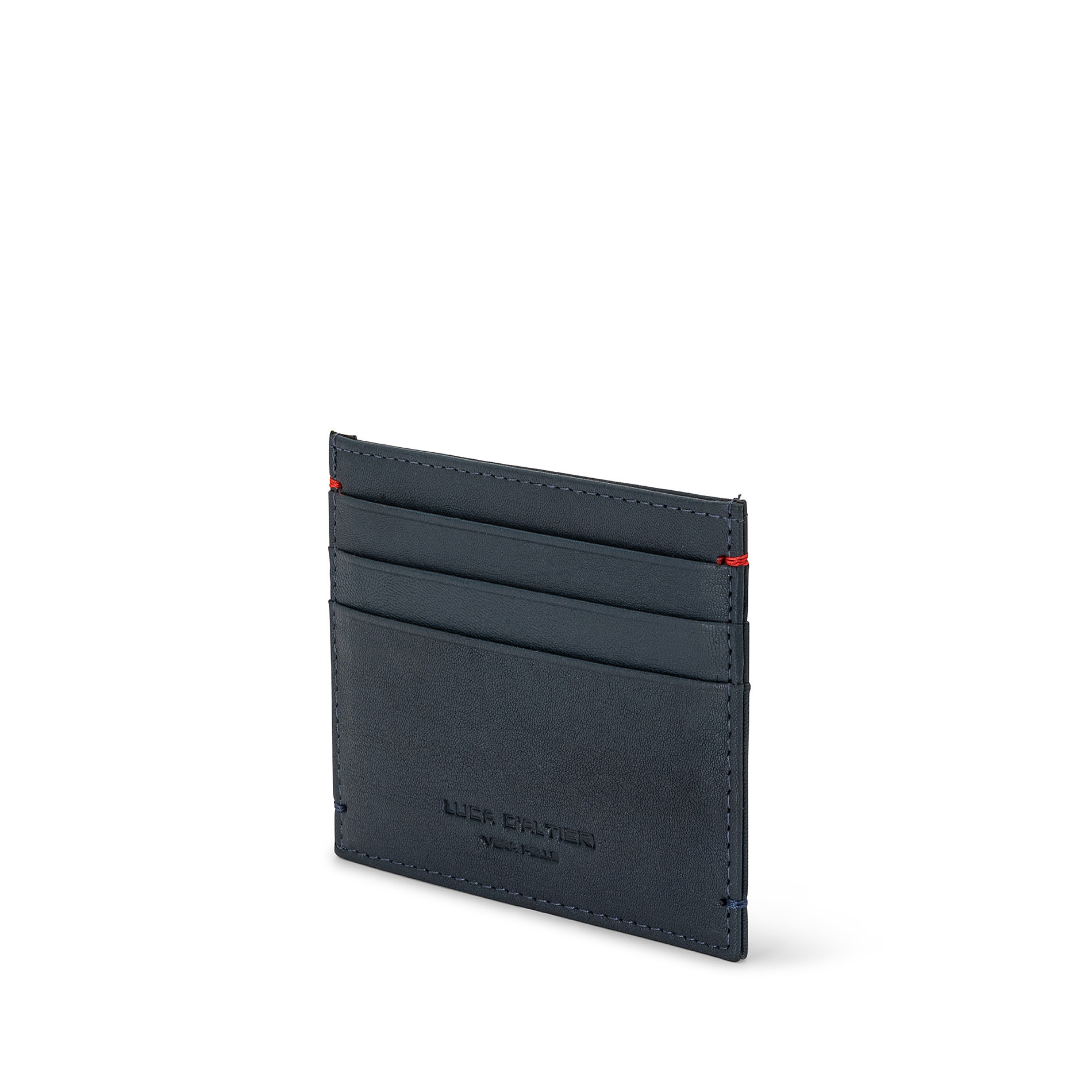 Porta carte di credito in pelle Luca D'Altieri, Blu, large image number 1