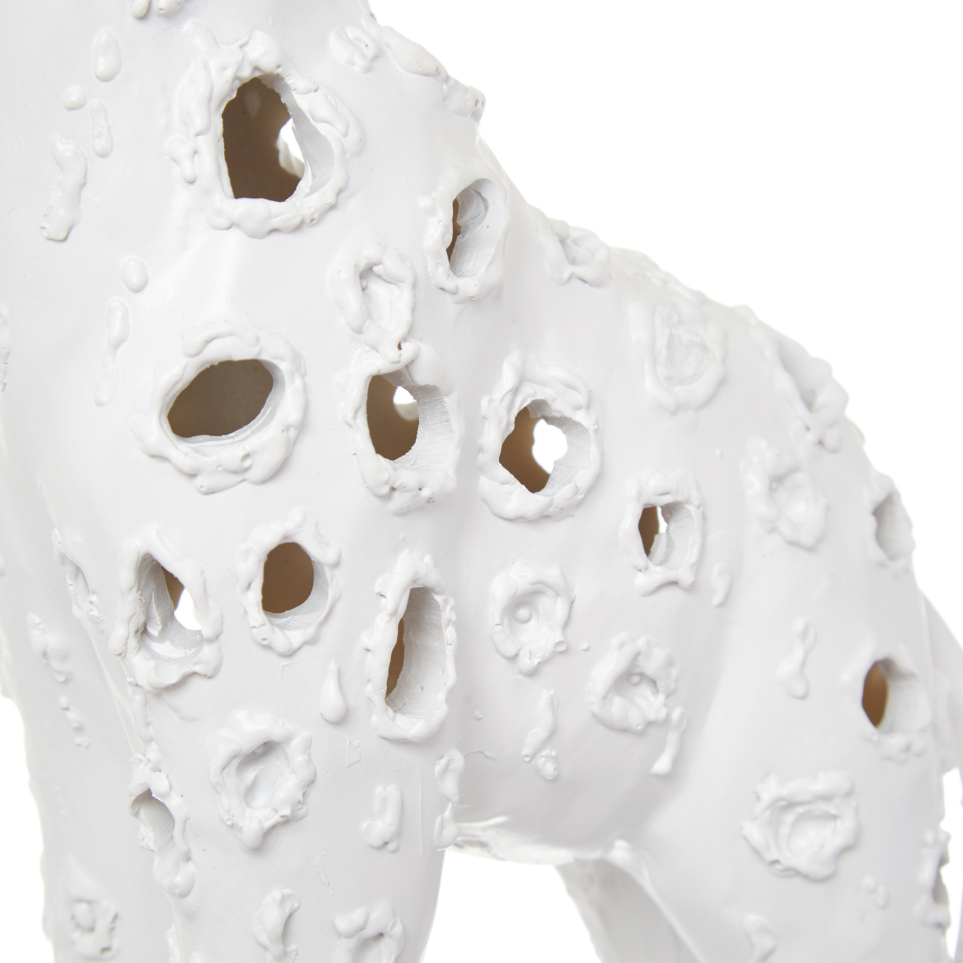 Giraffa decorativa rifinita a mano, Bianco, large image number 1