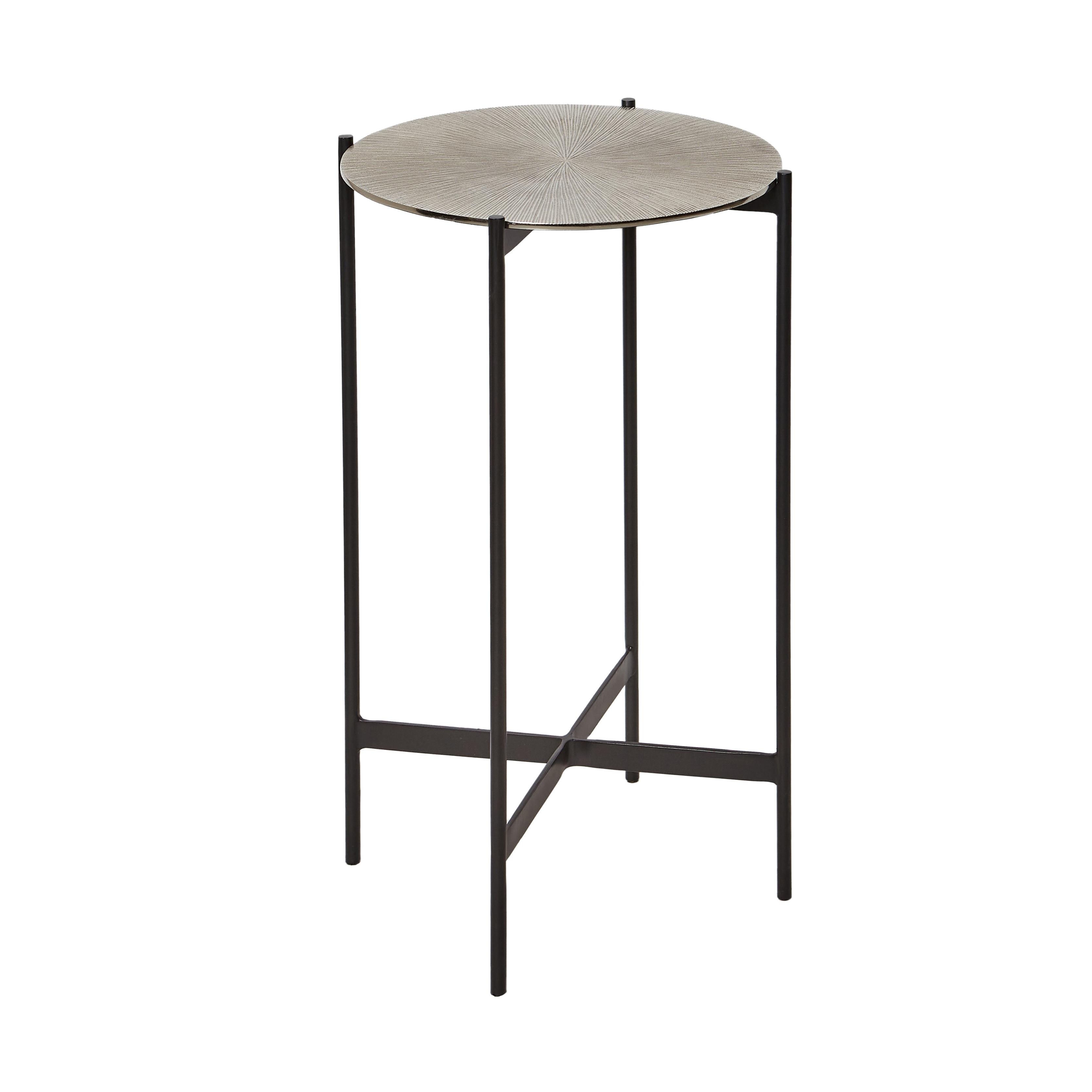 Tavolino in alluminio Round, Grigio argento, large image number 1