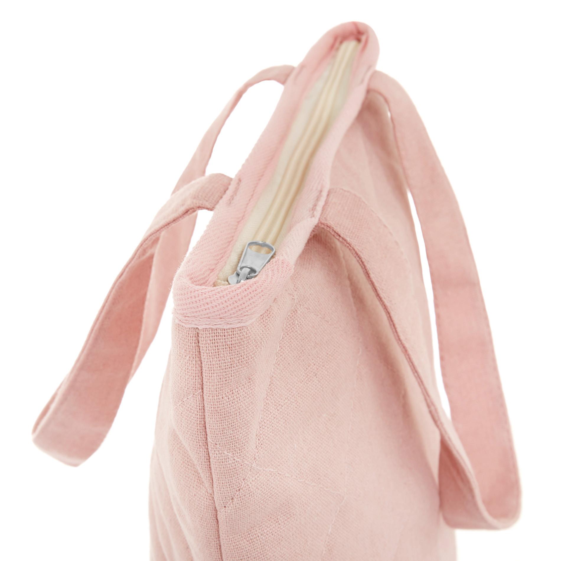Shopper bag tessuto trapuntato, Rosa, large image number 1