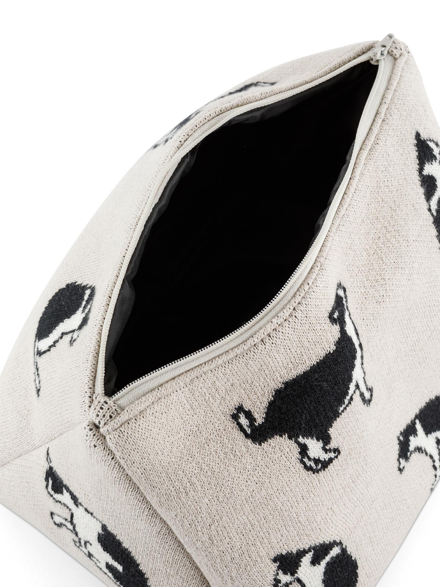Astuccio cotone motivo gatti, Beige chiaro, large image number 1