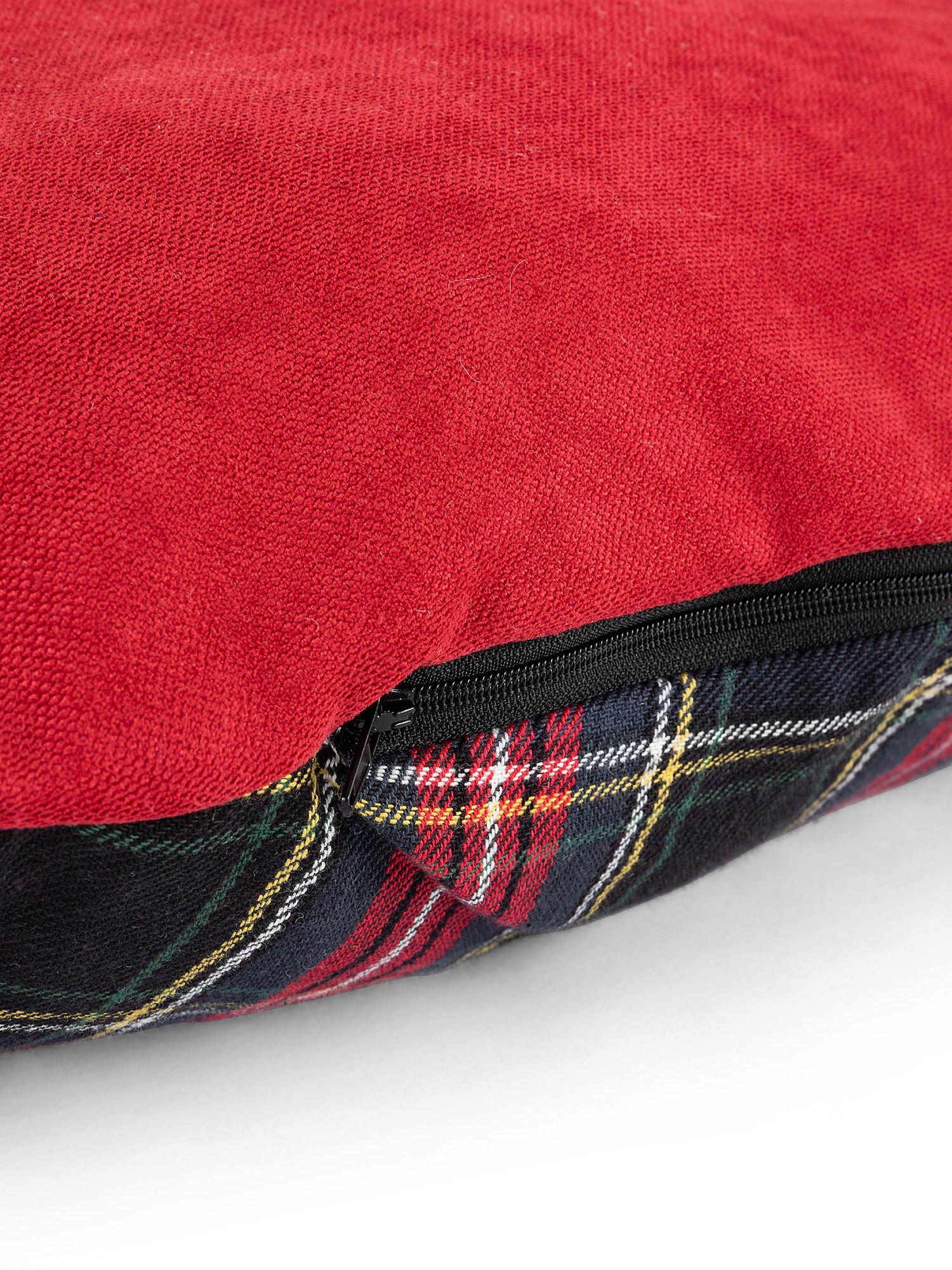 Cuccia trapuntata motivo tartan, Rosso, large image number 6