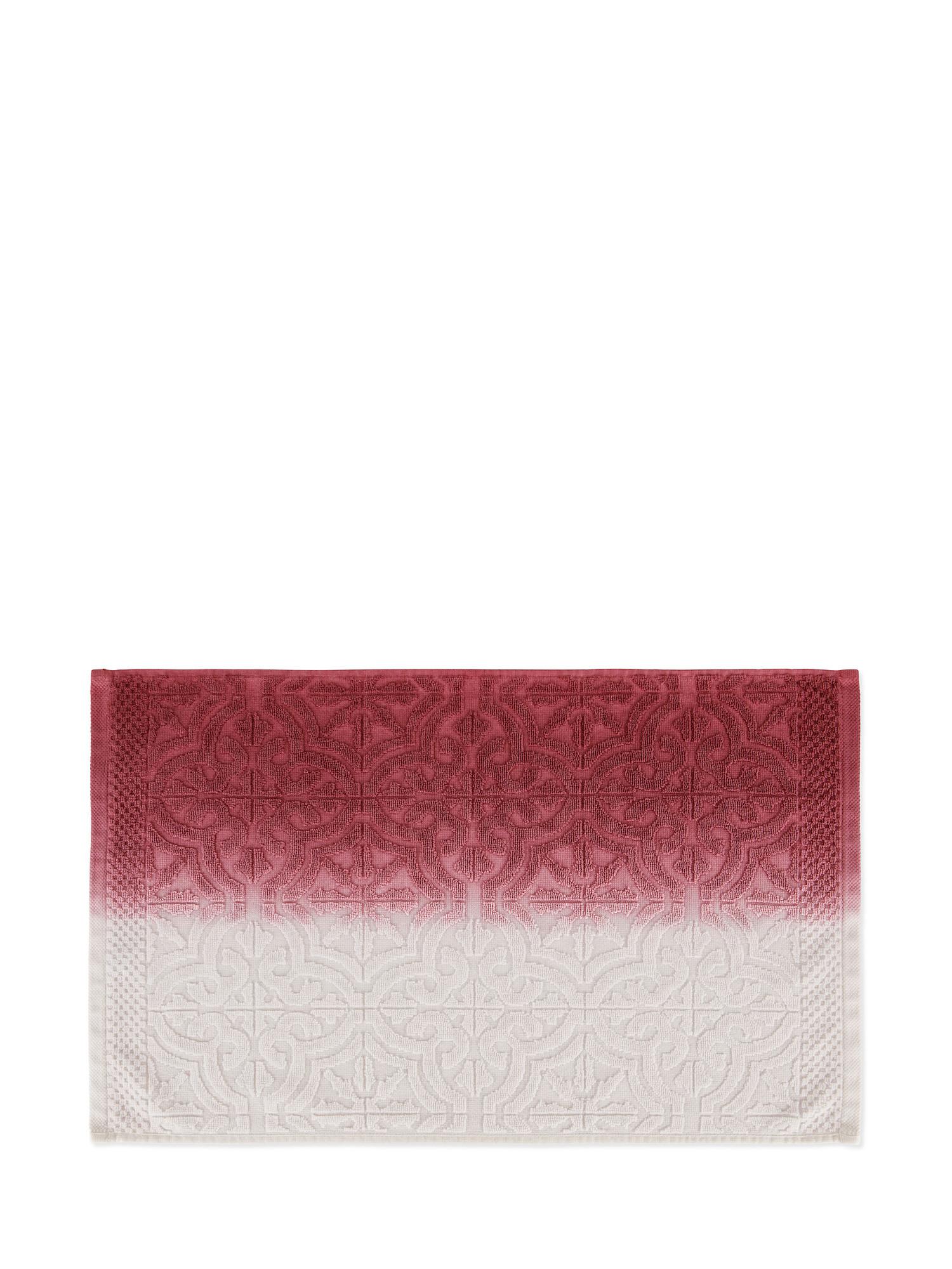 Asciugamano spugna di cotone dip dye, Rosa, large image number 2