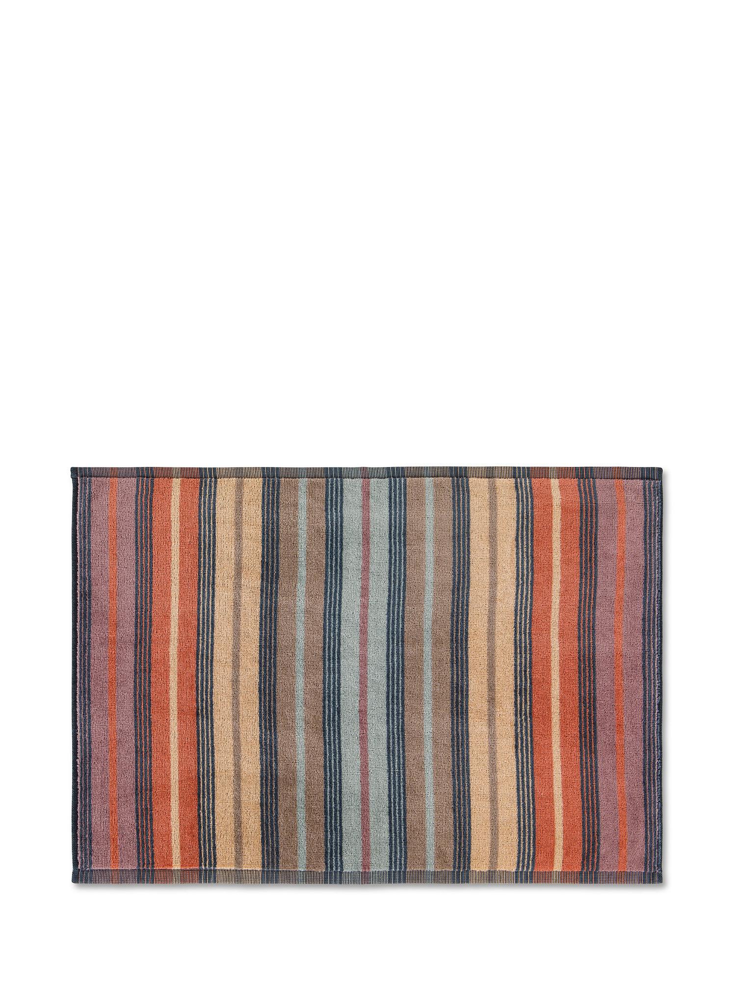 Asciugamano cotone velour motivo righe larghe, Multicolor, large image number 1