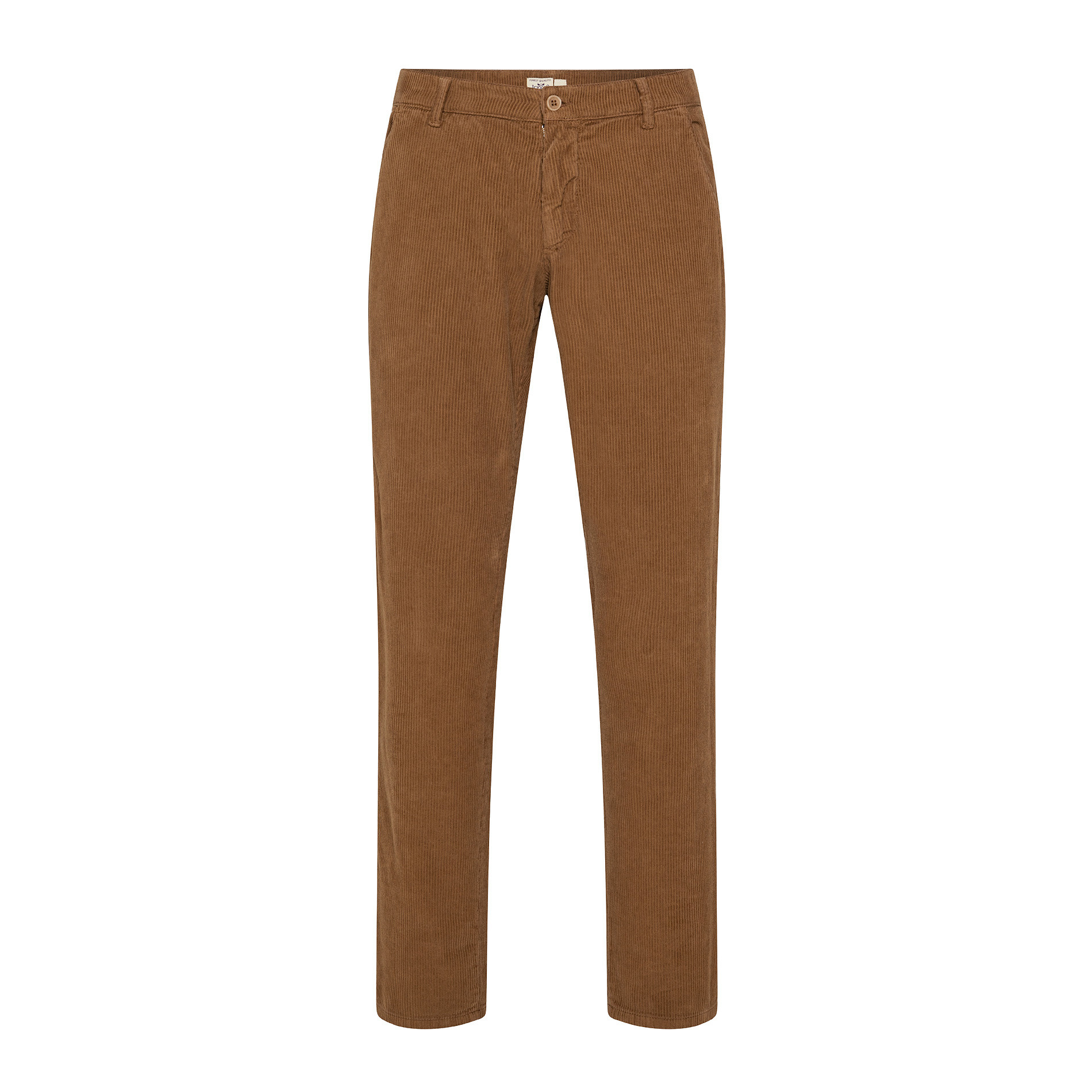 Pantaloni chino velluto stretch, Beige scuro, large image number 0