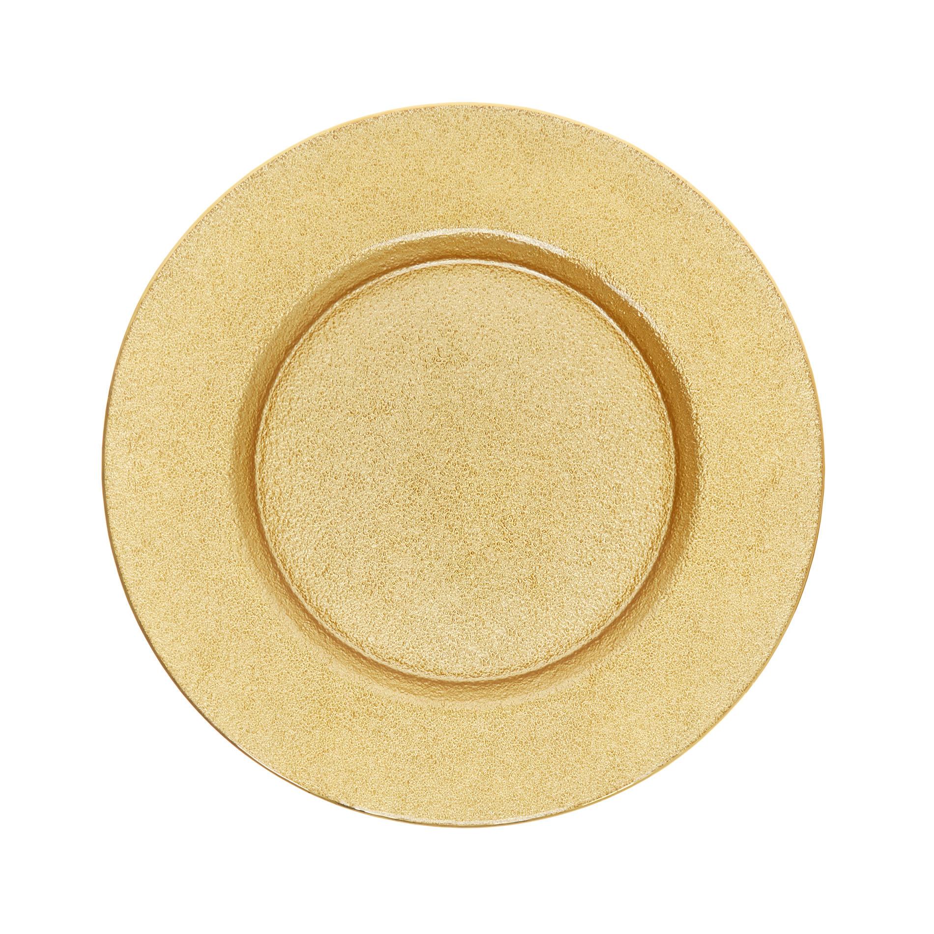 Sottopiatto vetro dorato, Giallo oro, large image number 0