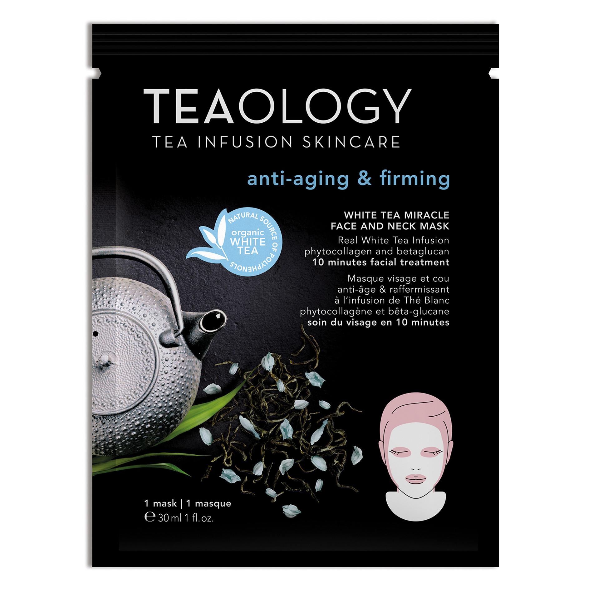 White Tea Miracle Maschera Viso e Collo Anti-aging  30 ml, Nero, large image number 0