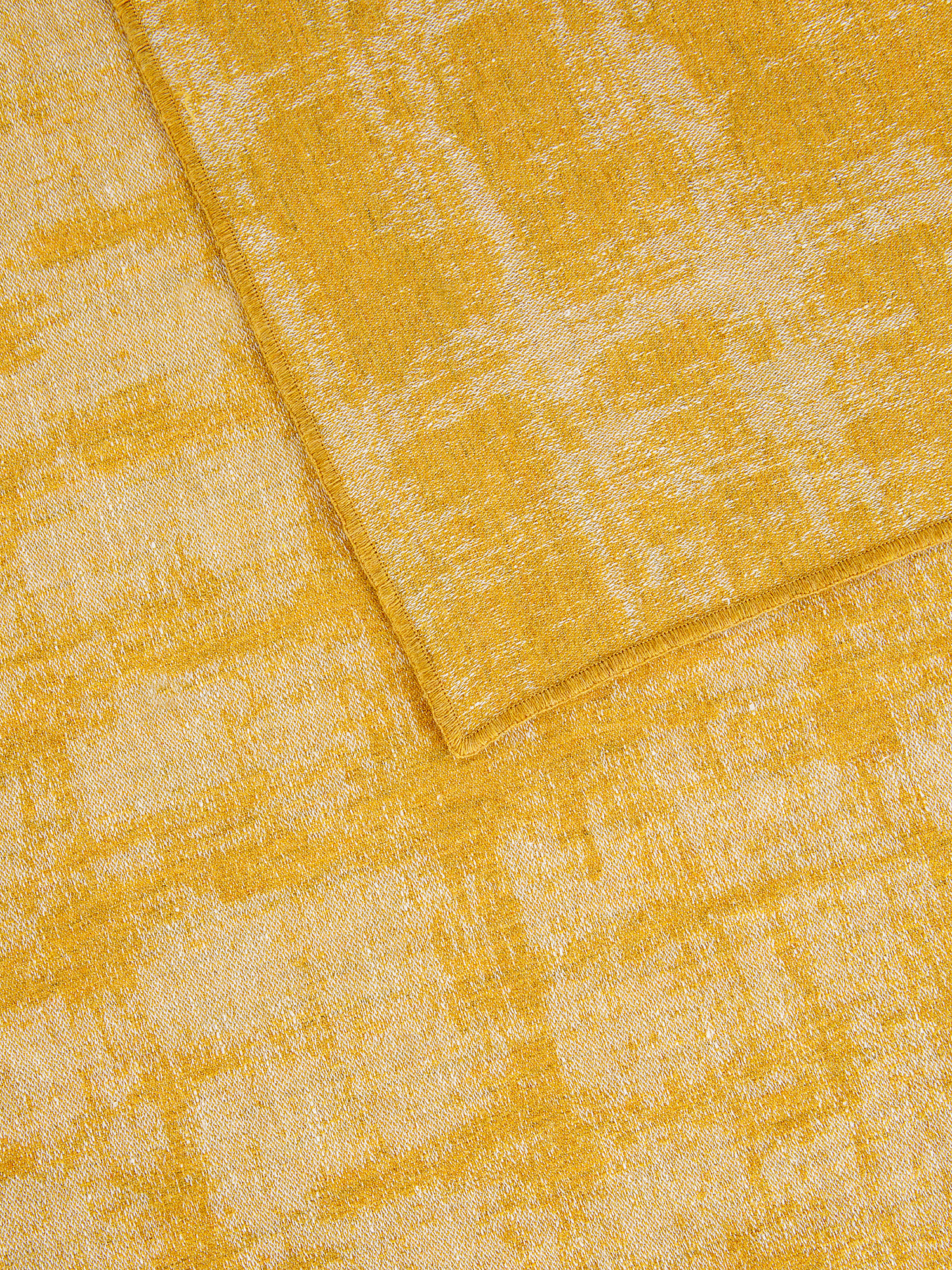 Plaid misto lana e lino, Giallo, large image number 2