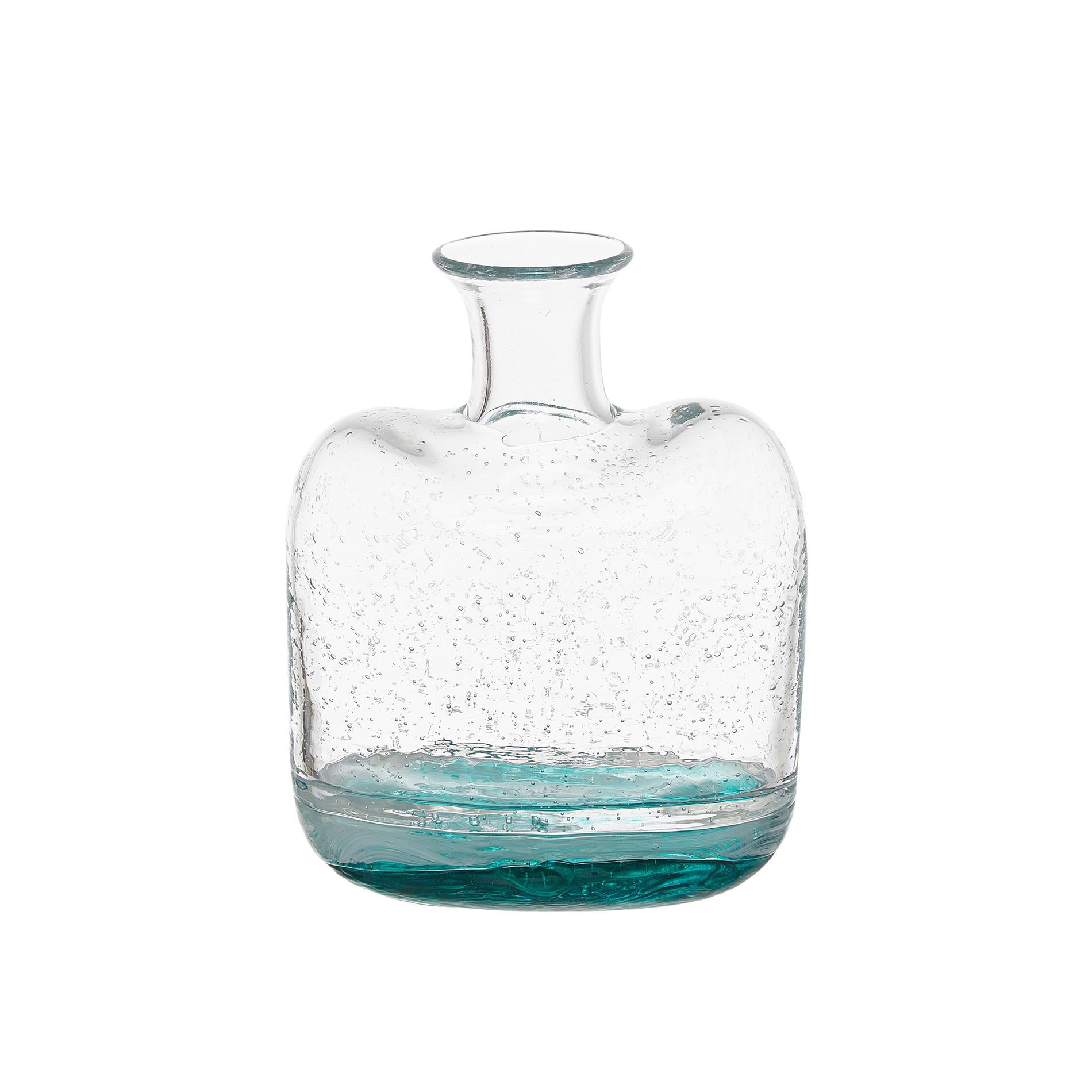 Vaso vetro colorato in pasta effetto bubble, Trasparente, large image number 0