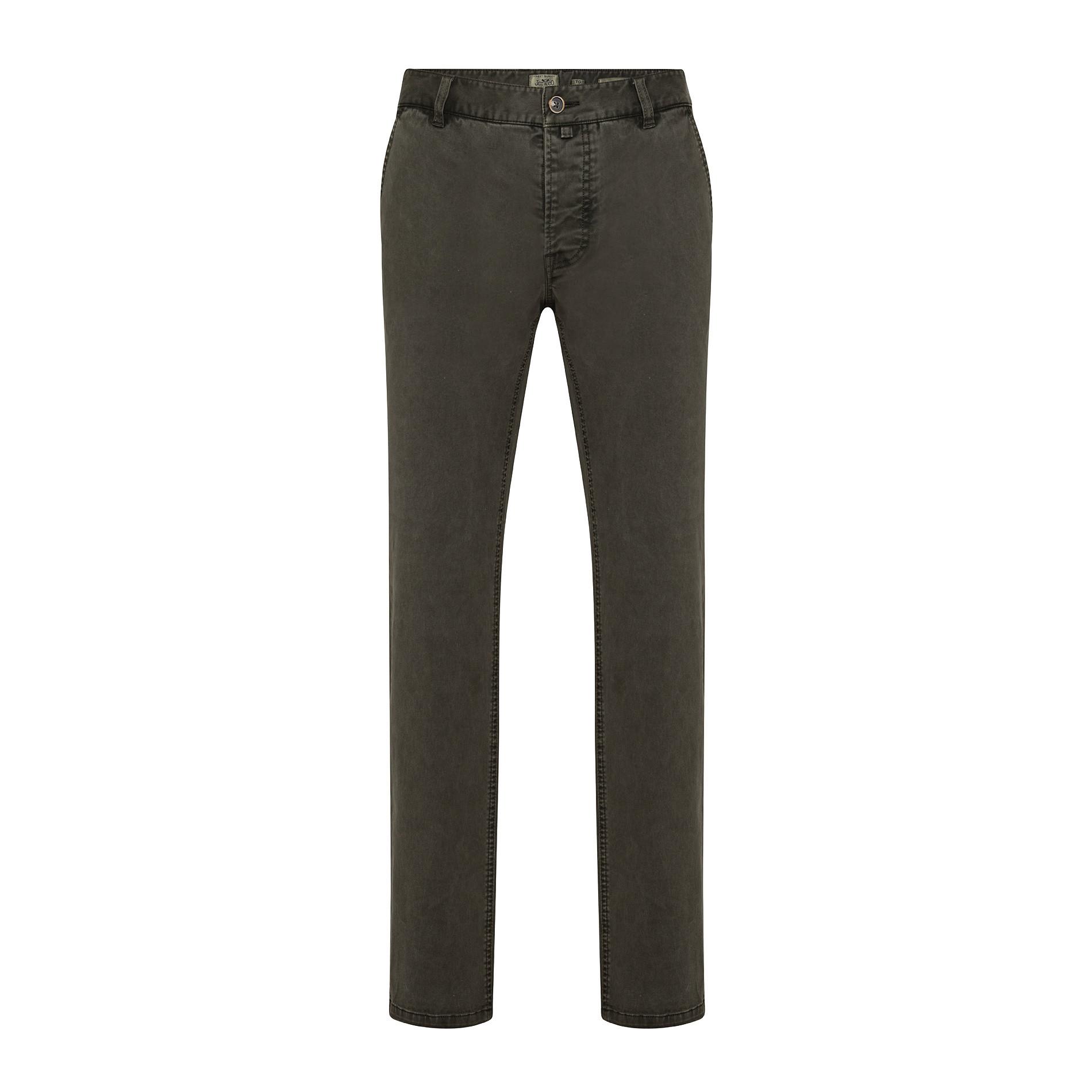 Pantaloni chino in tessuto stretch, Verde scuro, large image number 0