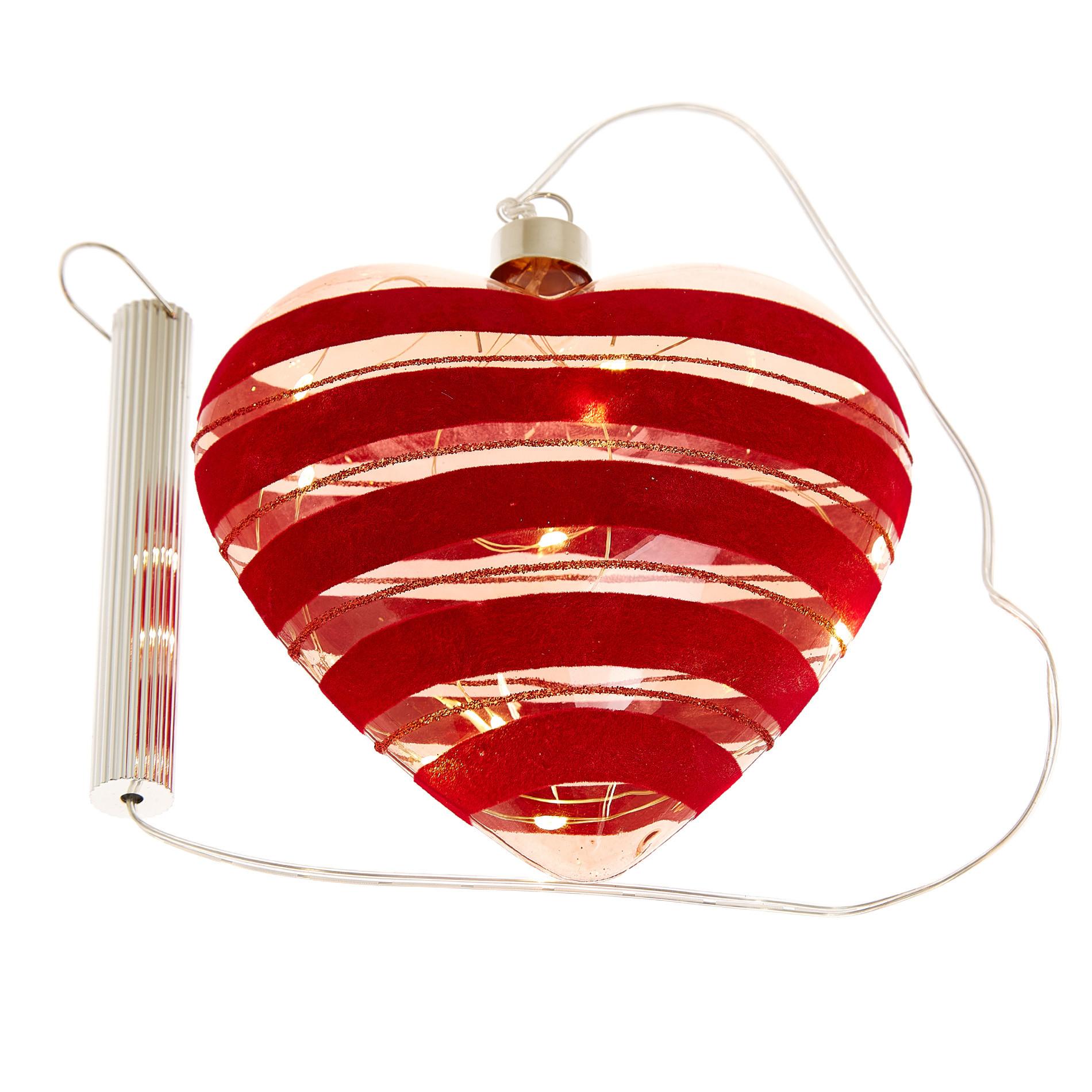 Cuore vetro LED, Trasparente, large image number 1