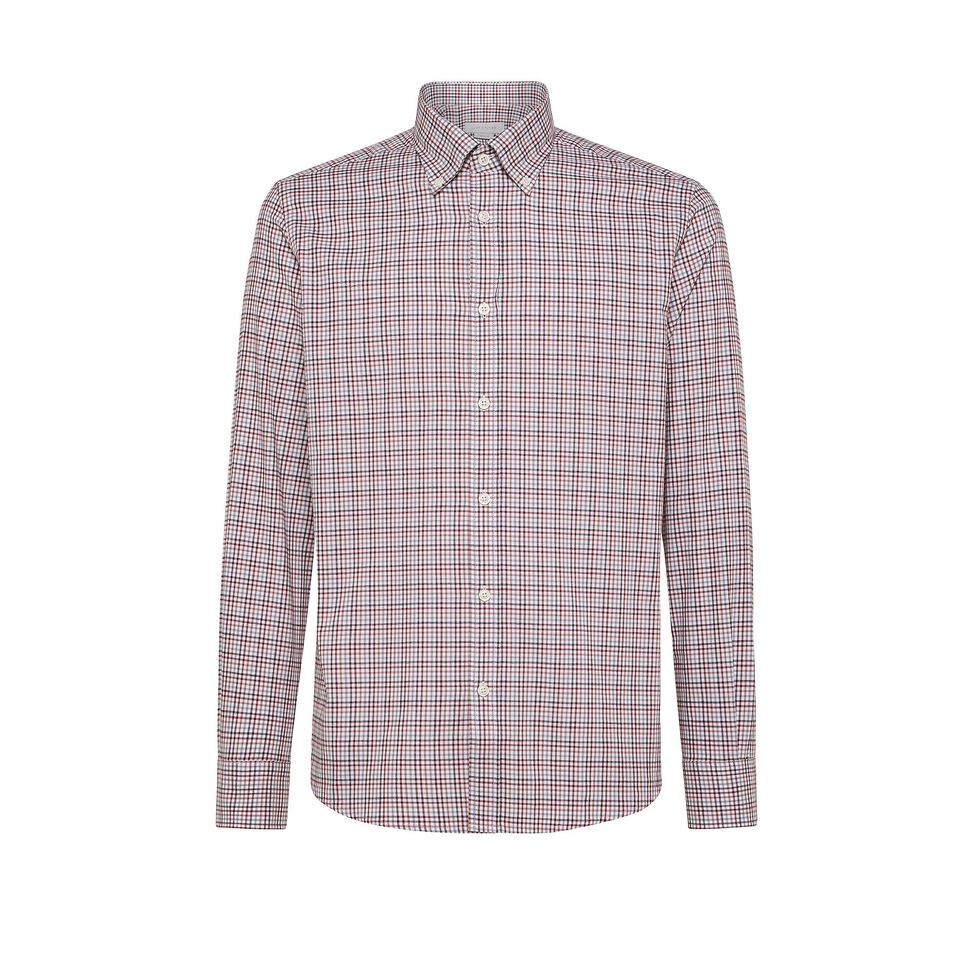 Camicia button-down tailor fit in cotone organico, Rosso scuro, large image number 0