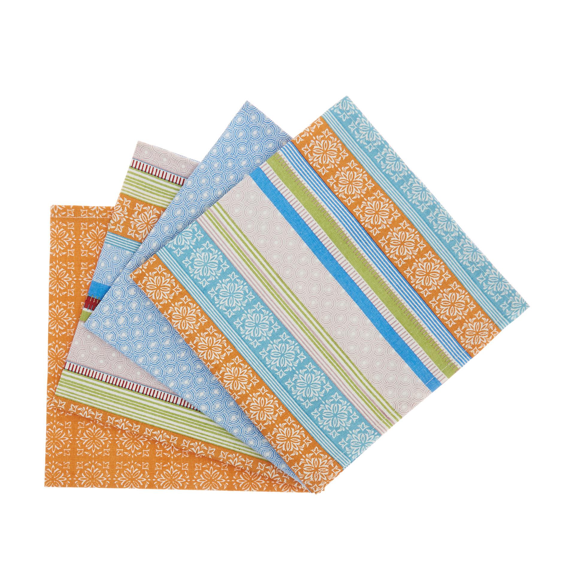Set 4 tovaglioli stampa multi righe, Multicolor, large image number 0