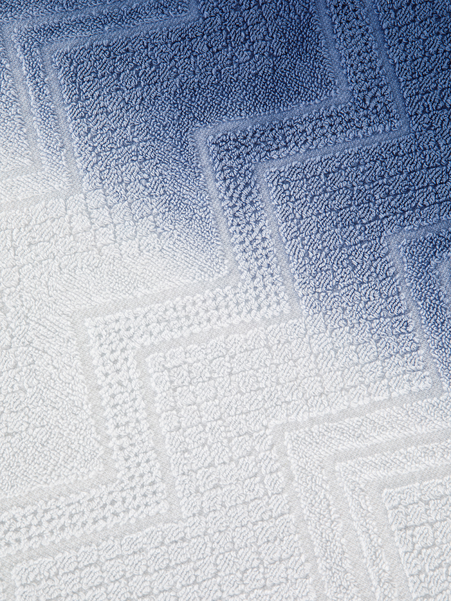 Asciugamano spugna di cotone dip dye, Blu, large image number 3