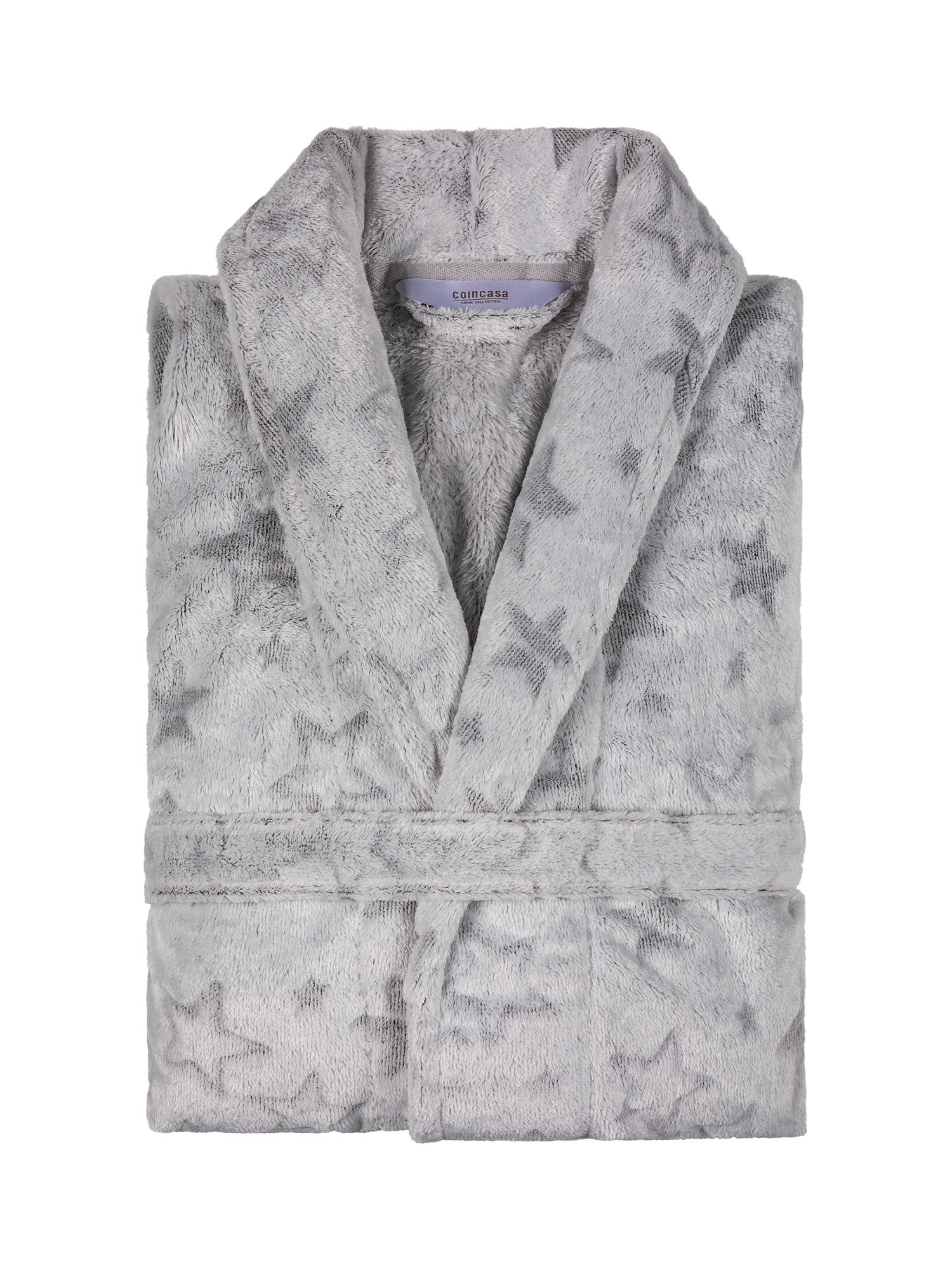 Vestaglia pile tinta unita, Bianco, large image number 1