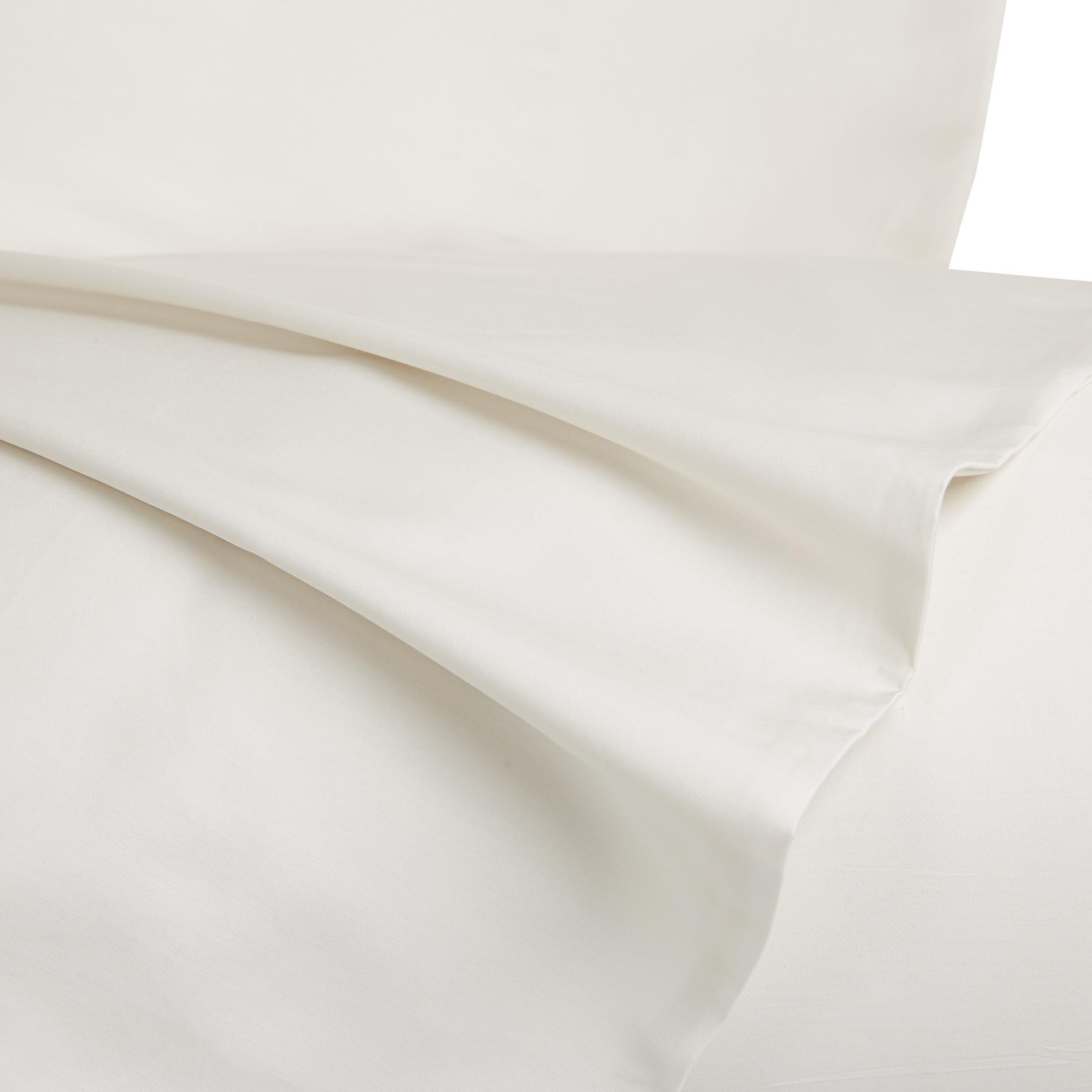Parure letto raso di puro cotone Zefiro, Bianco, large image number 1