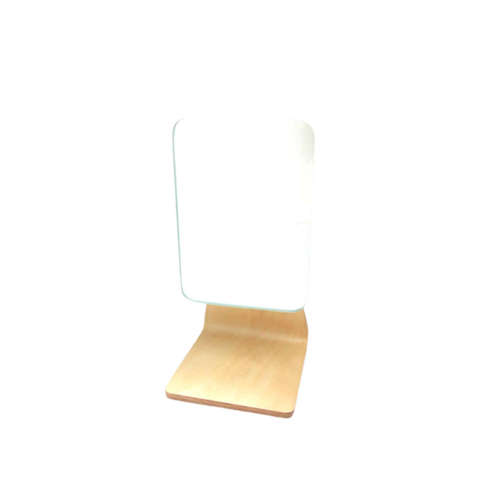 Specchio da bagno base in bamboo, Trasparente, large image number 0