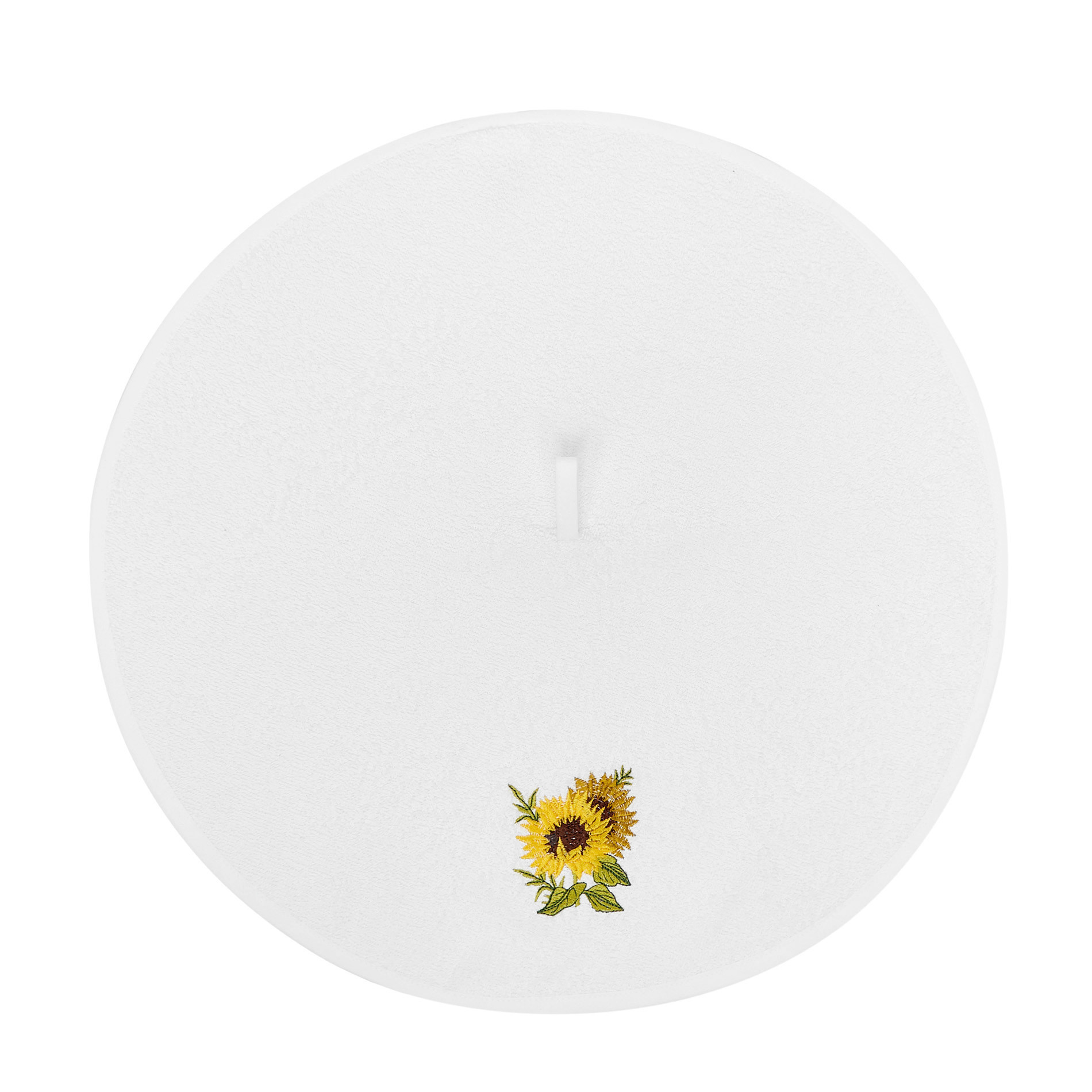 Strofinaccio spugna di cotone ricamato, Bianco, large image number 1