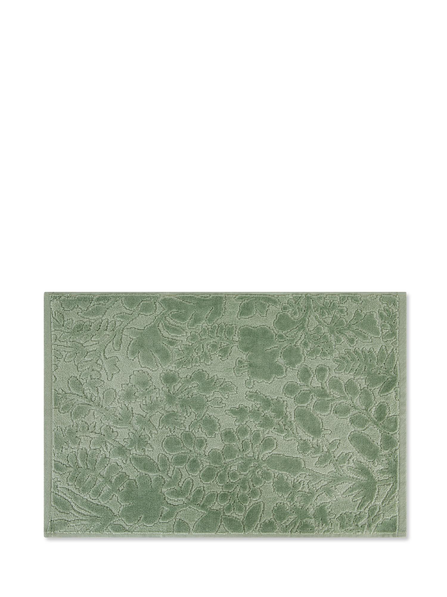 Asciugamano cotone velour tinta unita, Verde chiaro, large image number 1