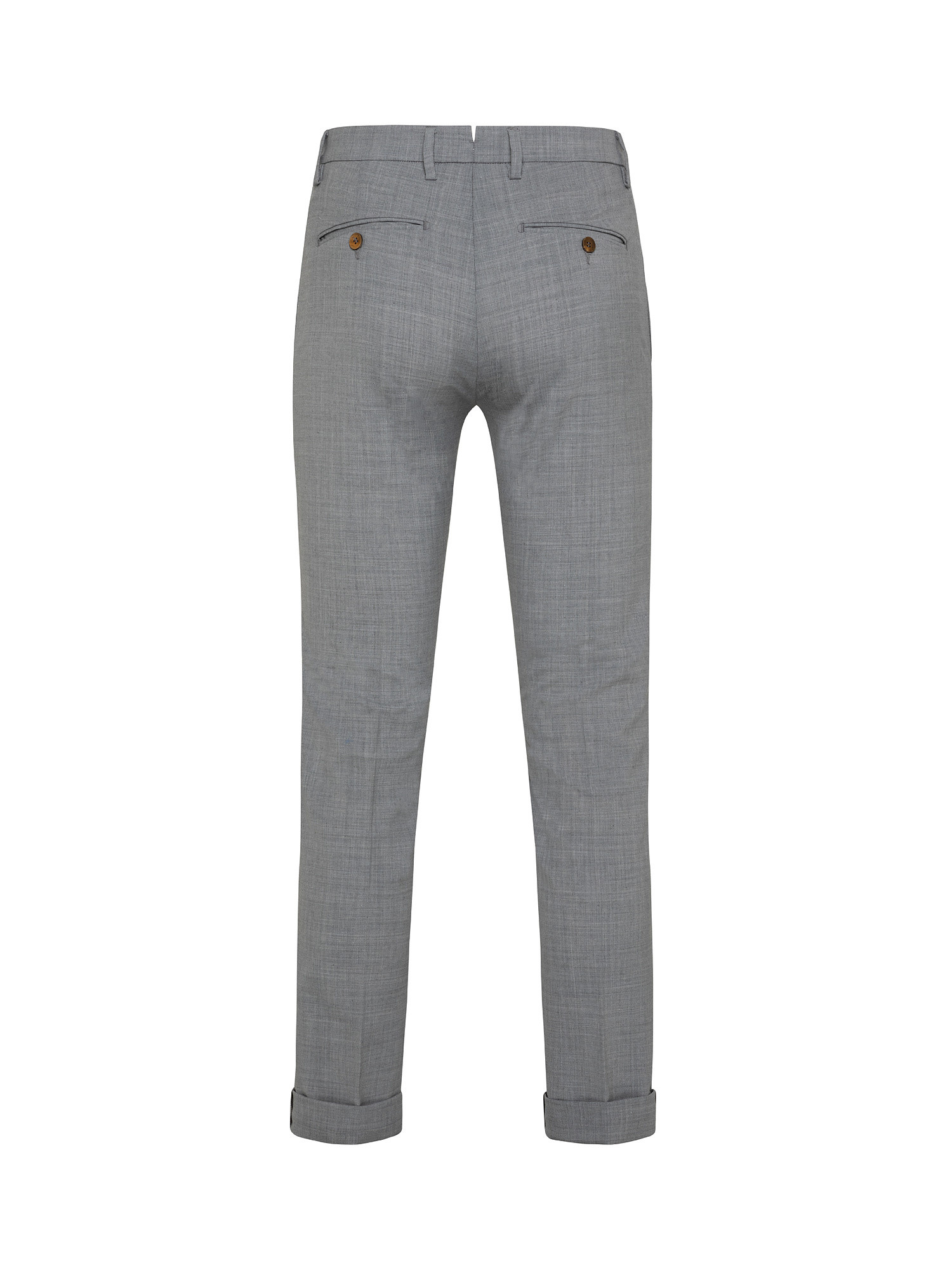 Pantalone chino misto lana, Grigio, large image number 1