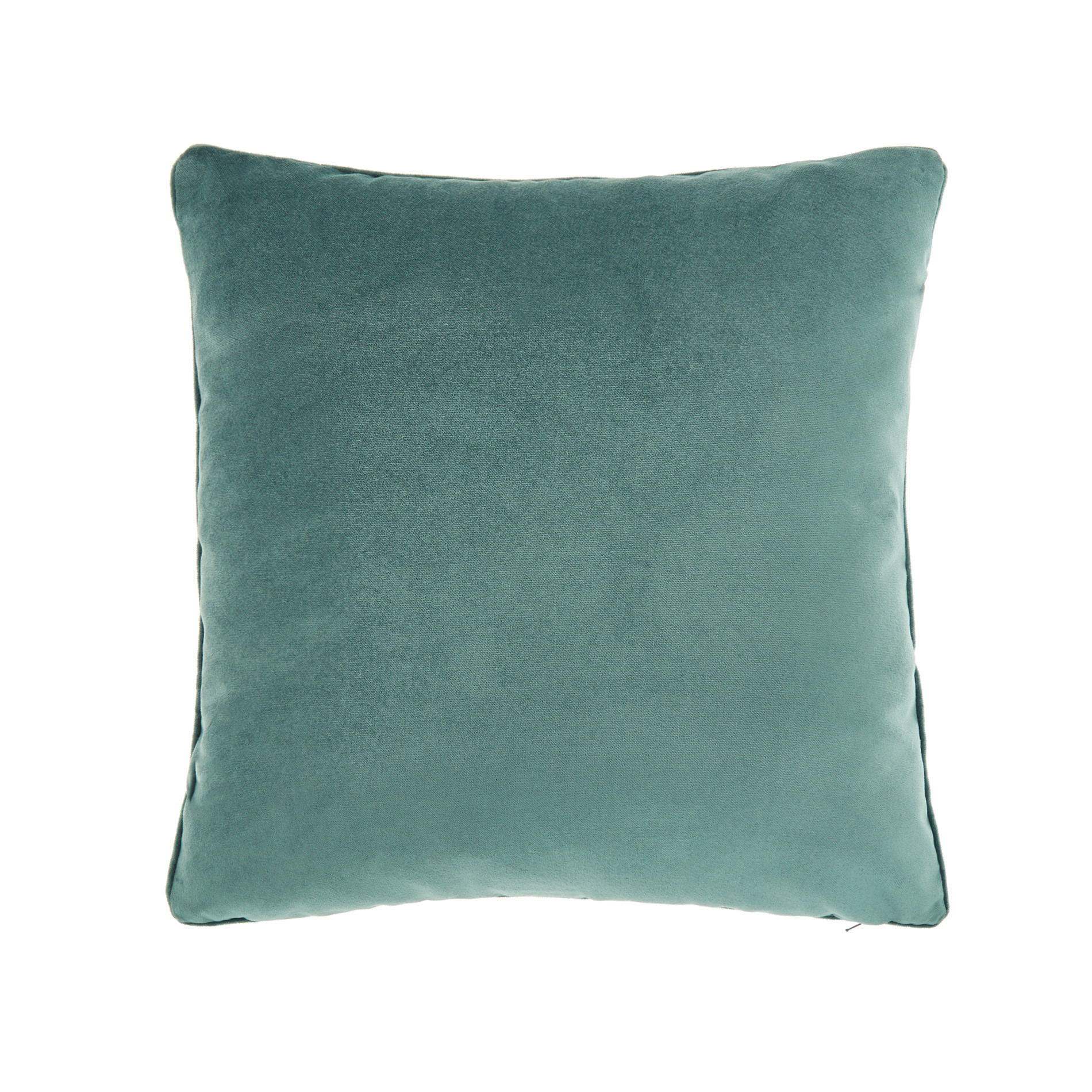 Cuscino velluto effetto seta tinta unita, Verde smeraldo, large image number 0