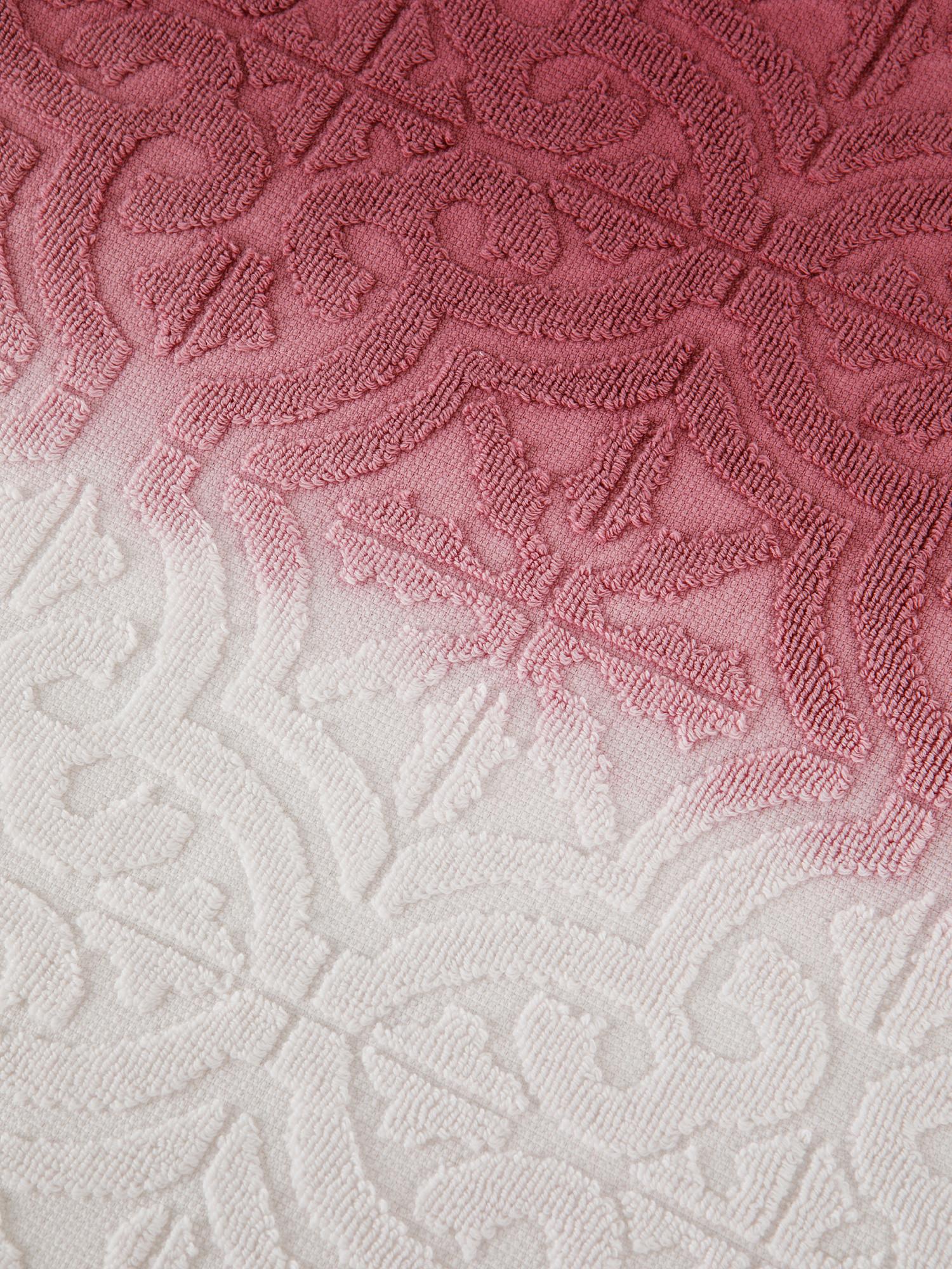 Asciugamano spugna di cotone dip dye, Rosa, large image number 3