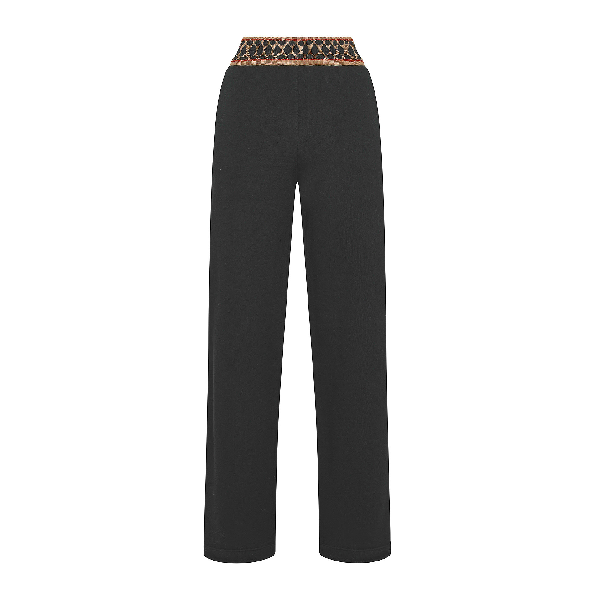 Pantalone felpa cintura animalier Koan, Nero, large image number 0