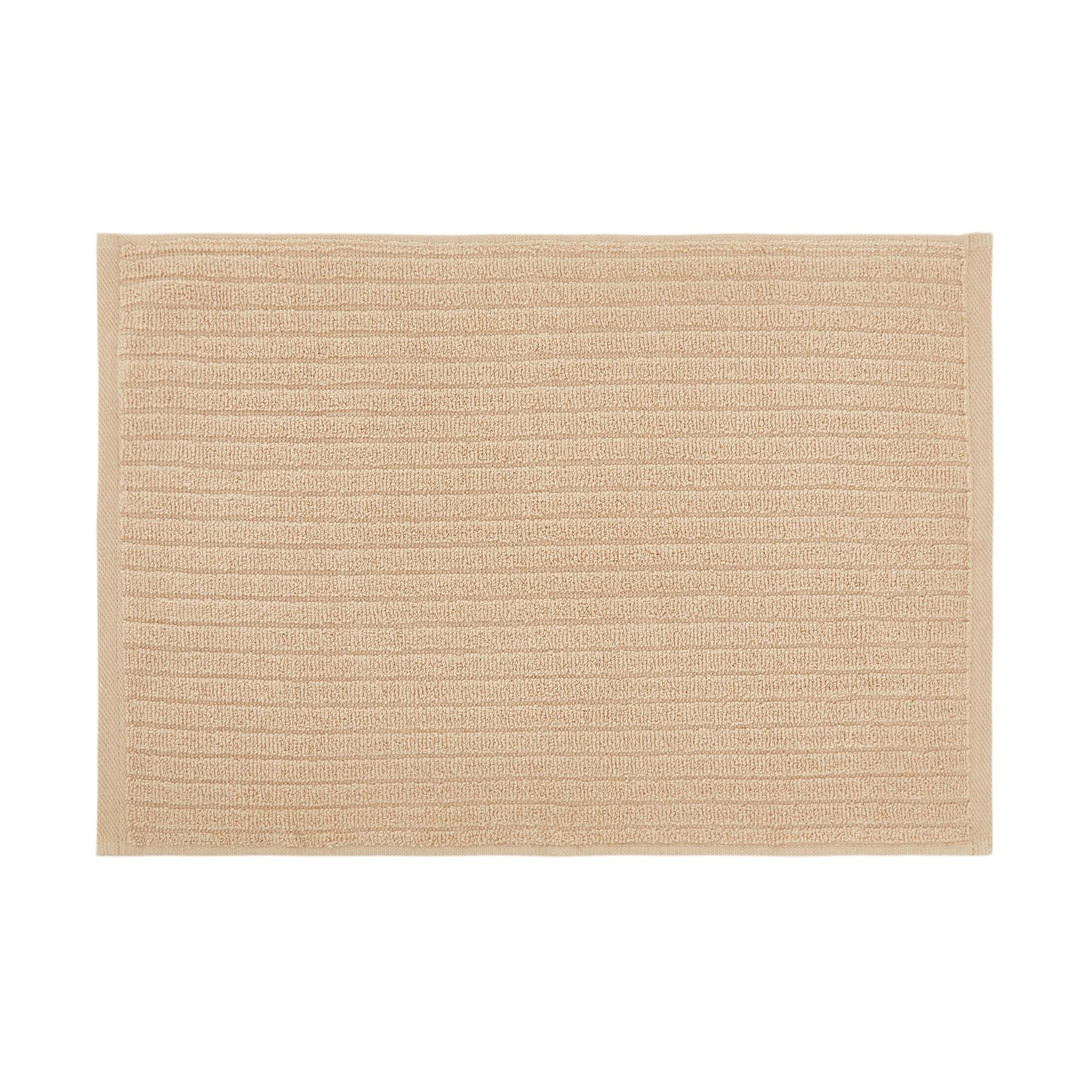 Set asciugamani puro cotone righe jacquard tinta unita, Beige, large image number 2