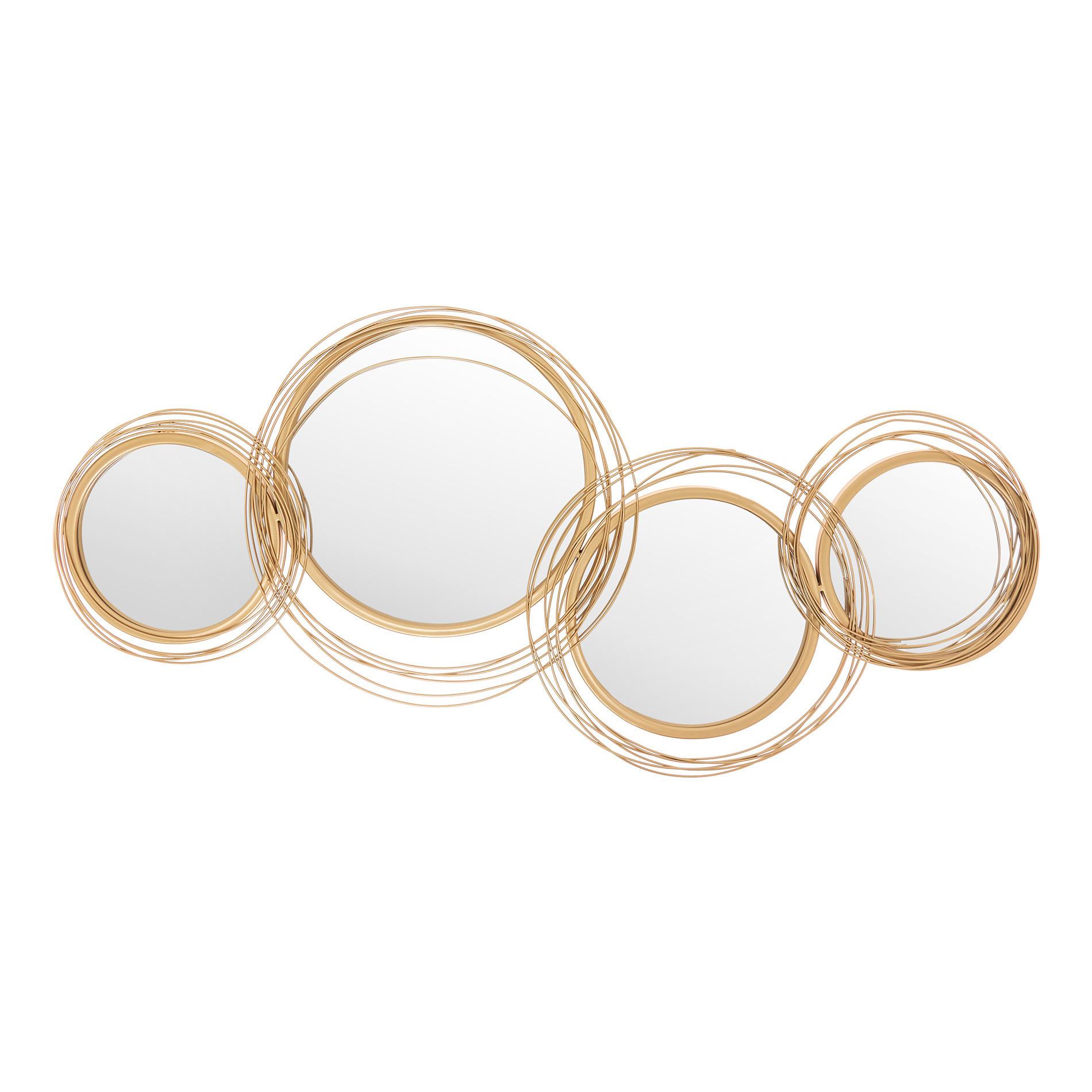 Specchi decorativi cornice ferro, Oro, large image number 0
