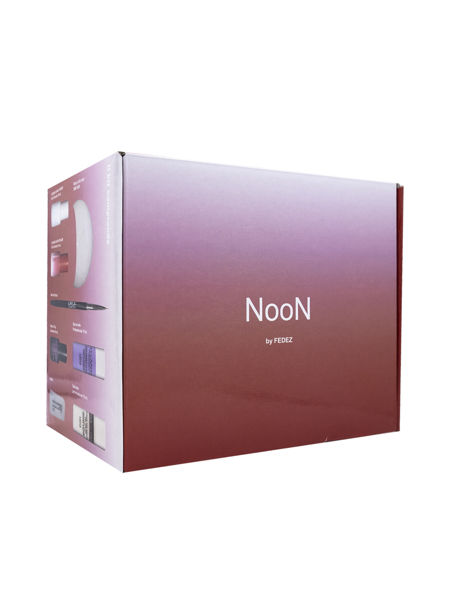 Starter Kit Gel Polish NooN by Fedez n°2, Rosso, large image number 0