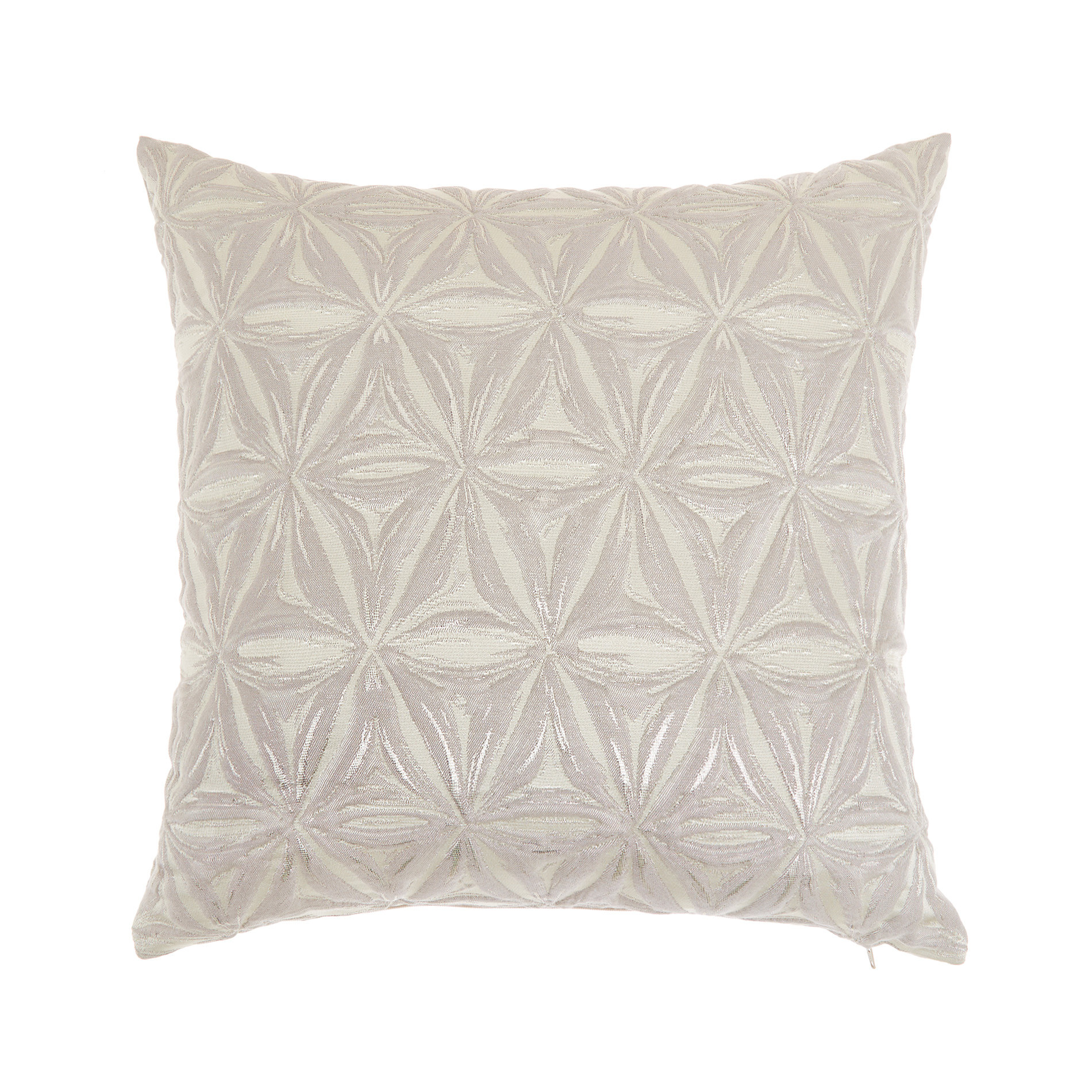 Cuscino jacquard motivi geometrici 45x45cm, Grigio chiaro, large image number 0
