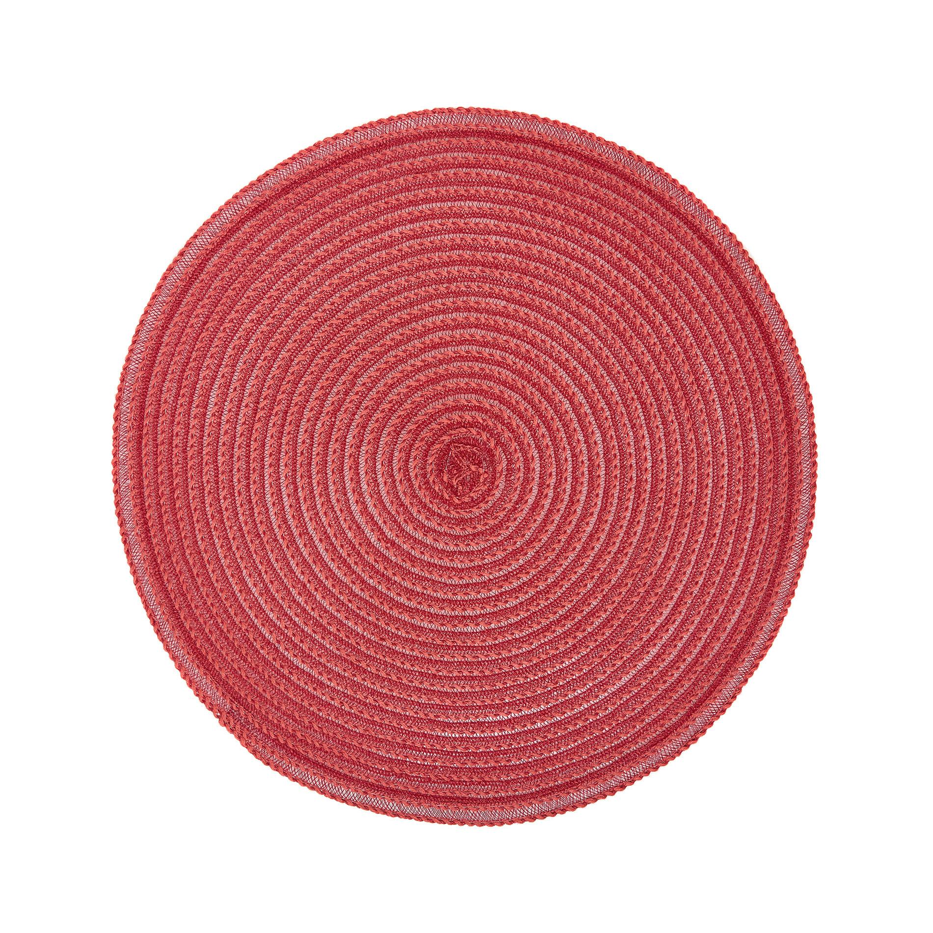Tovaglietta plastica tinta unita, Rosso, large image number 0