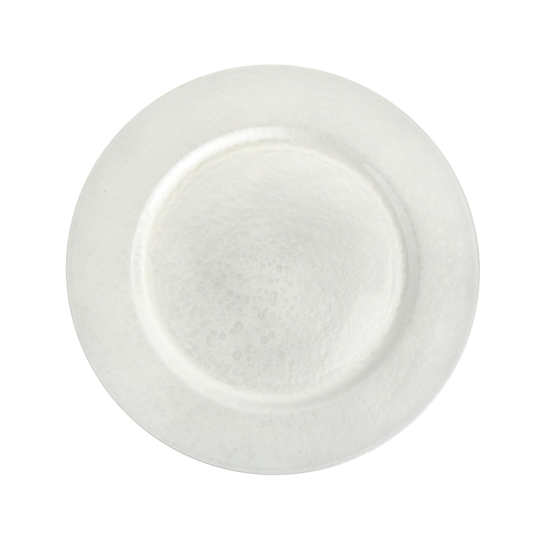 Sottopiatto plastica effetto bubbles, Grigio argento, large image number 0