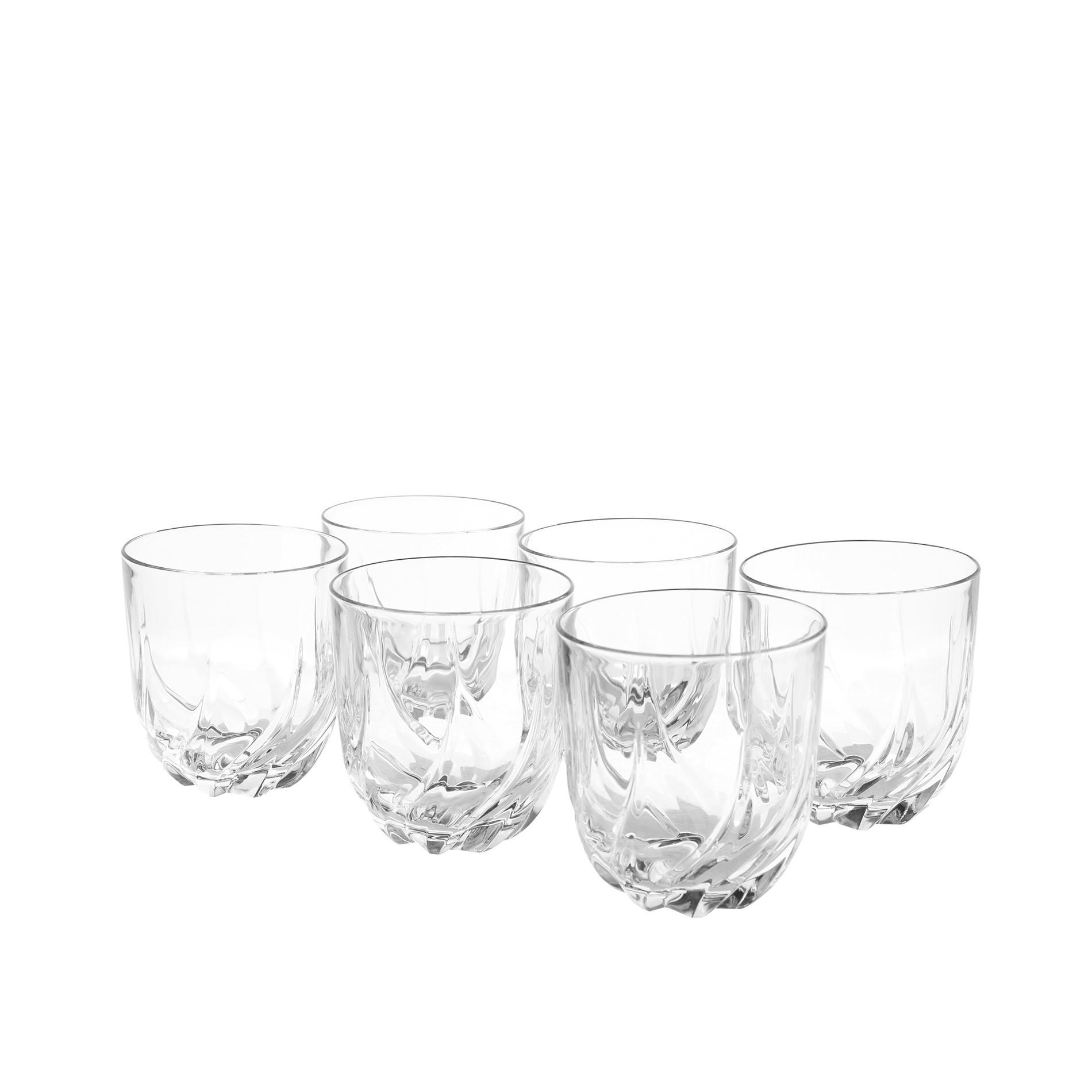Set 6 bicchieri vetro Trix, Trasparente, large image number 0