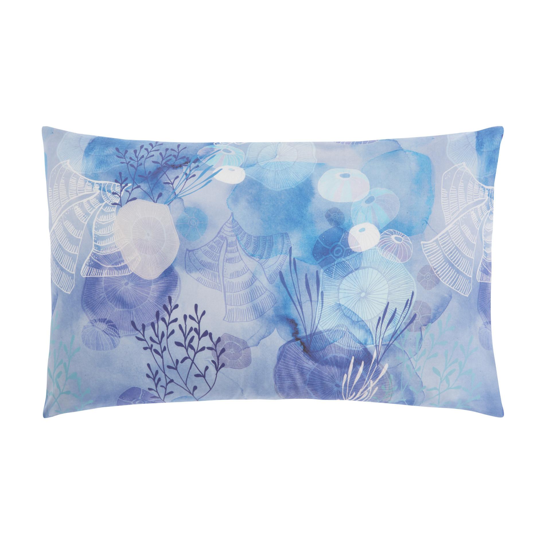 Federa mussola di cotone fantasia meduse, Azzurro, large image number 0